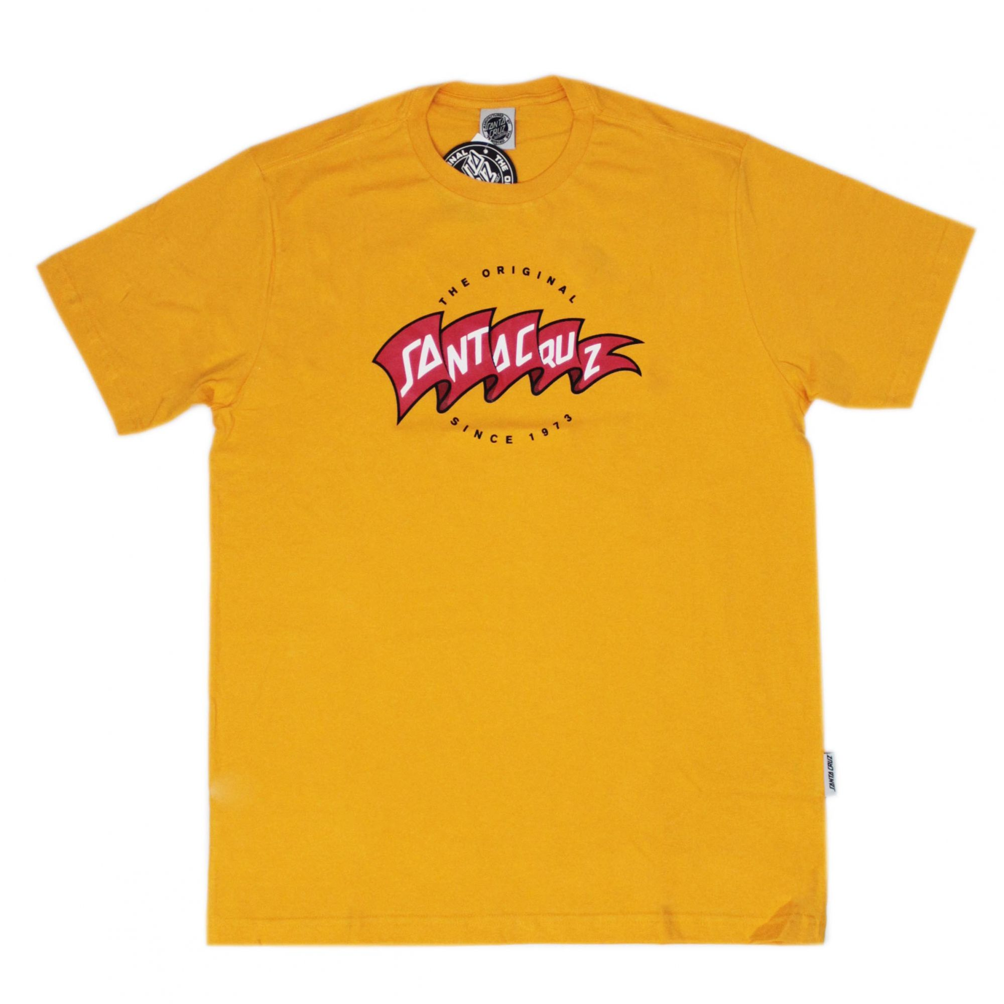 Camiseta Santa Cruz Banner Amarelo