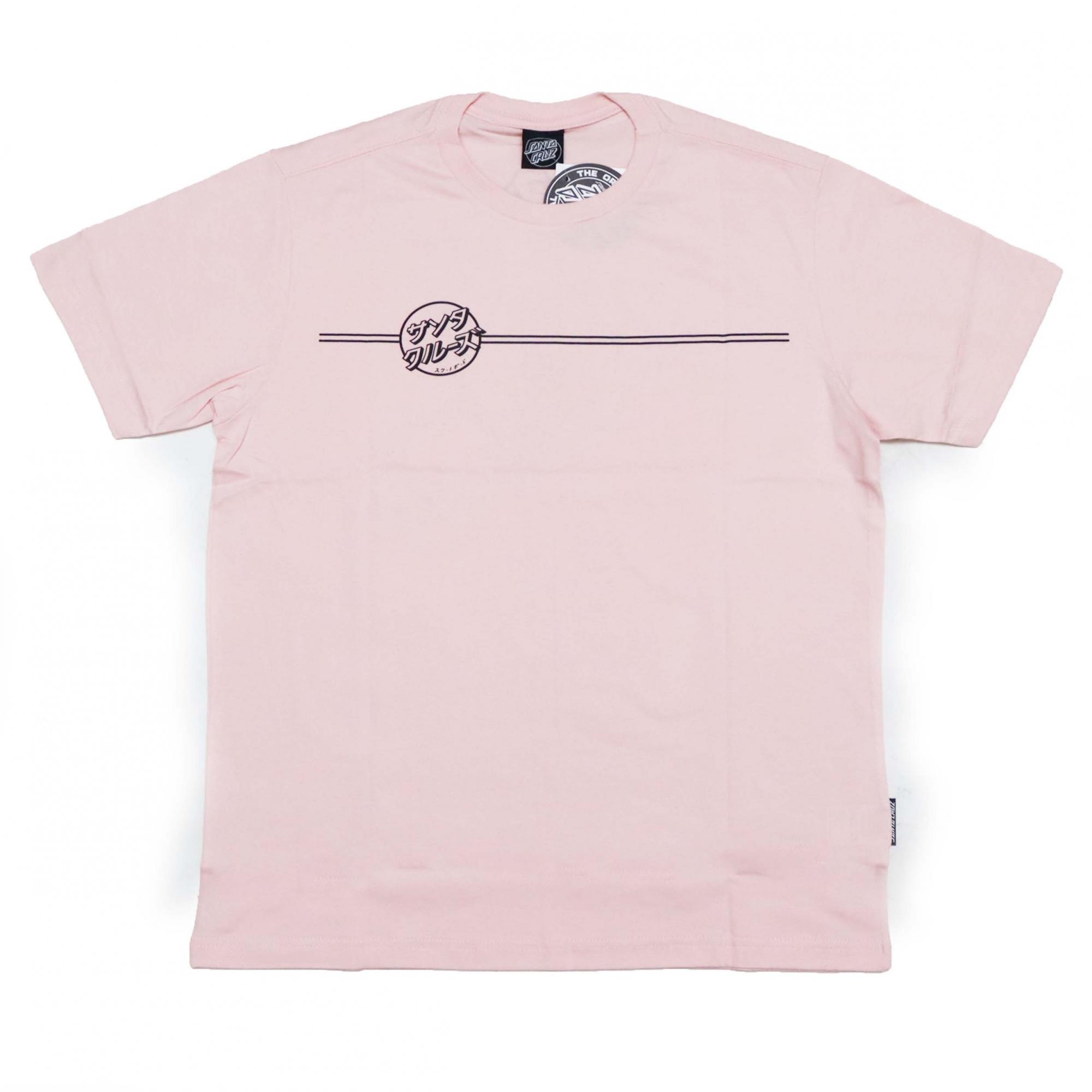 Camiseta Santa Cruz Bogus Hand - Rosa