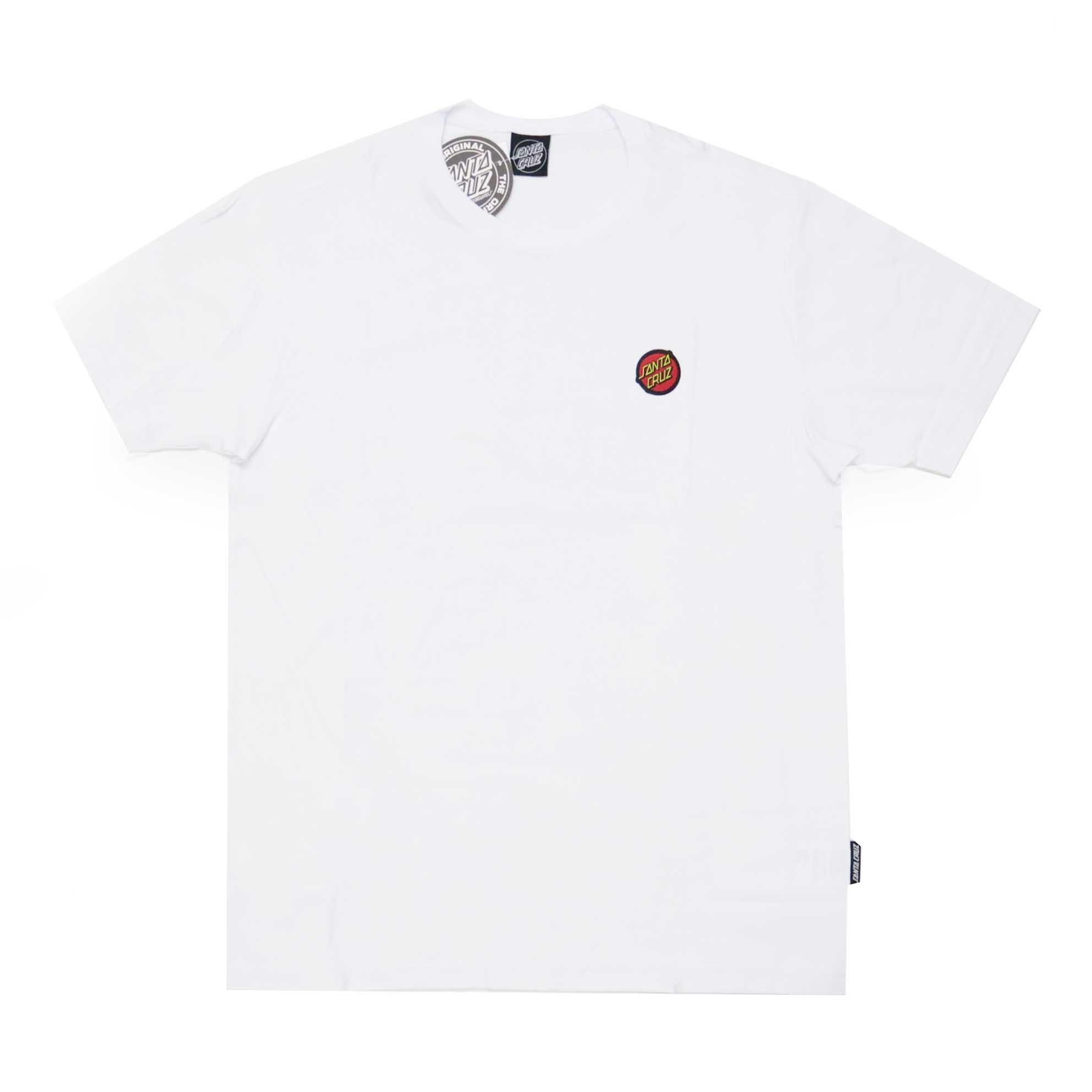Camiseta Santa Cruz Classic Dot Chest - Branco