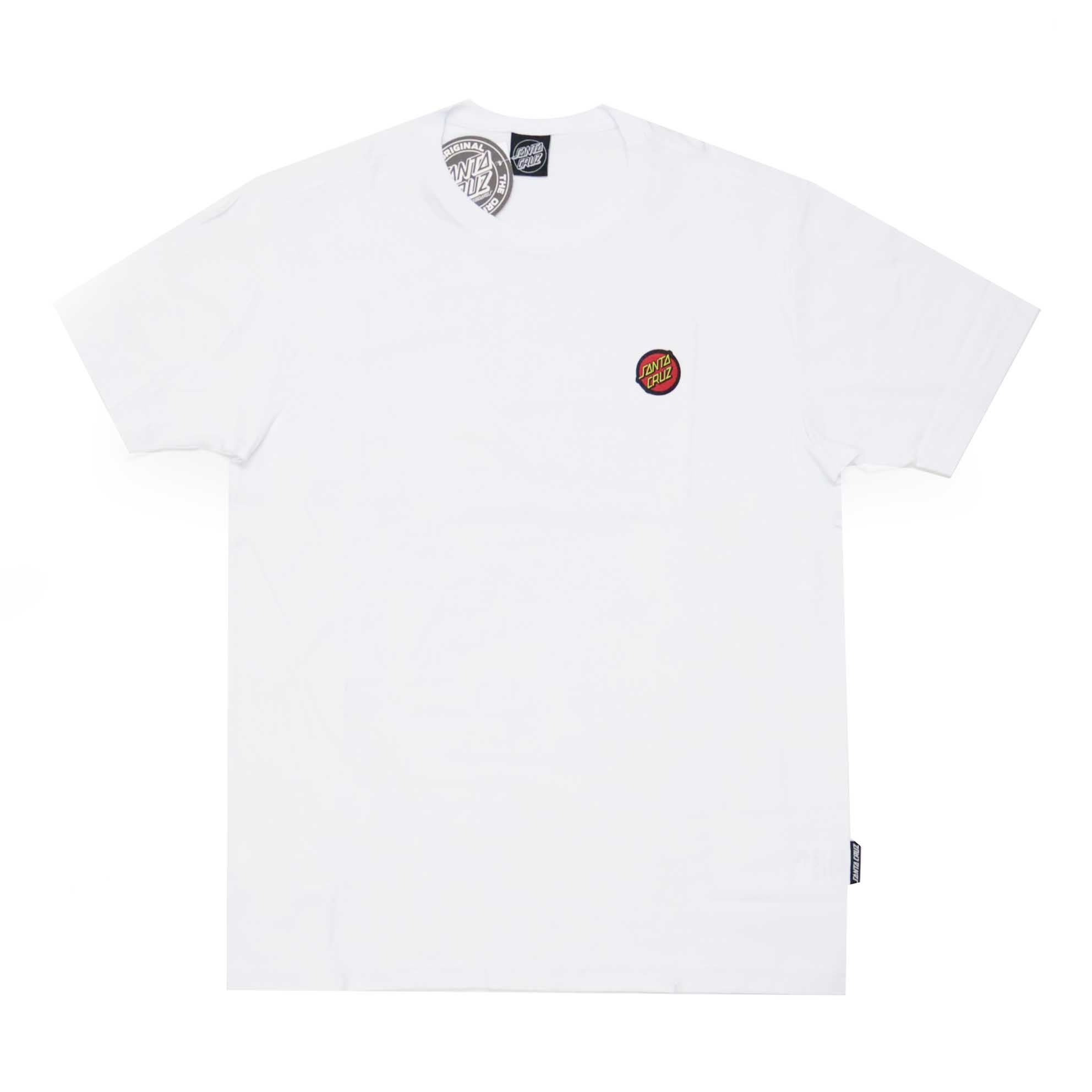 Camiseta Santa Cruz Classic Dot Chest - Branco