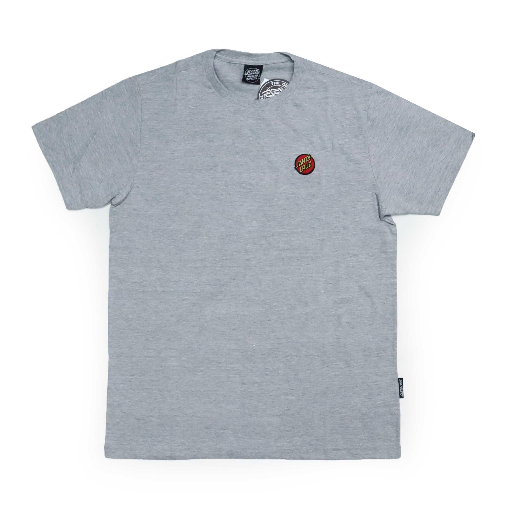 Camiseta Santa Cruz Classic Dot Chest - Cinza Mescla