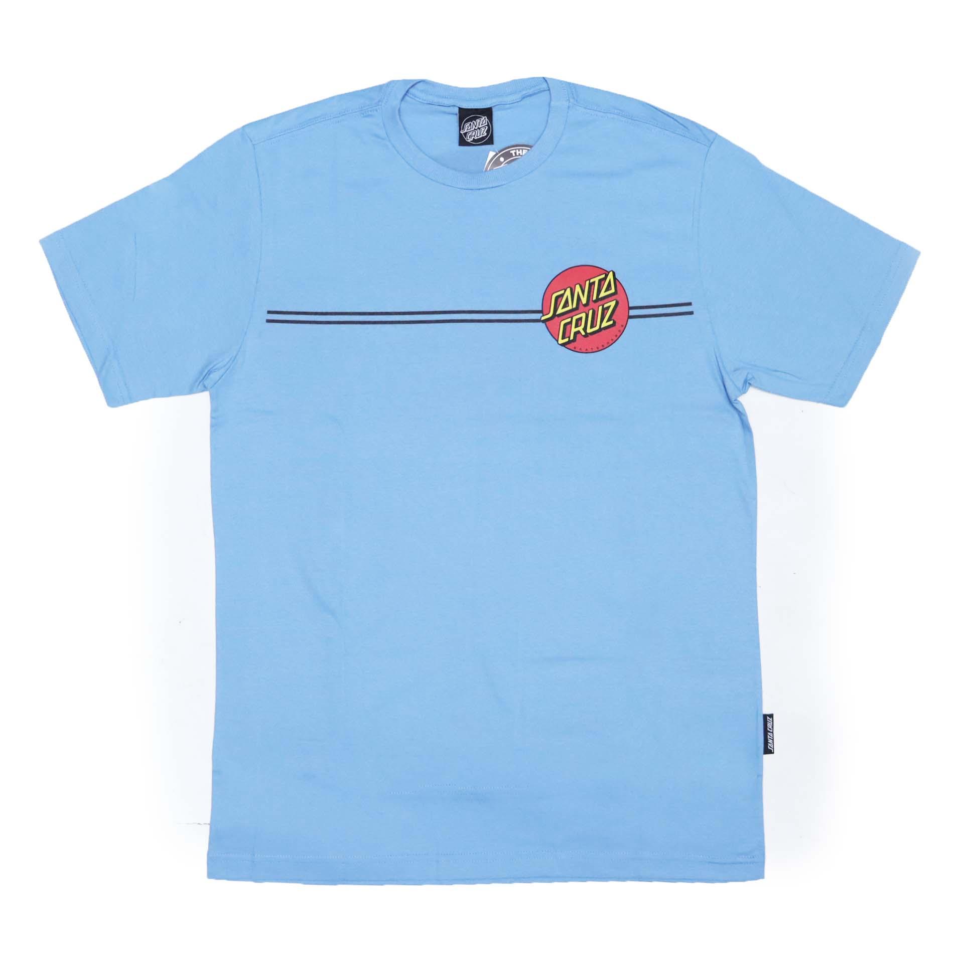 Camiseta Santa Cruz Classic Dot Line - Azul Claro