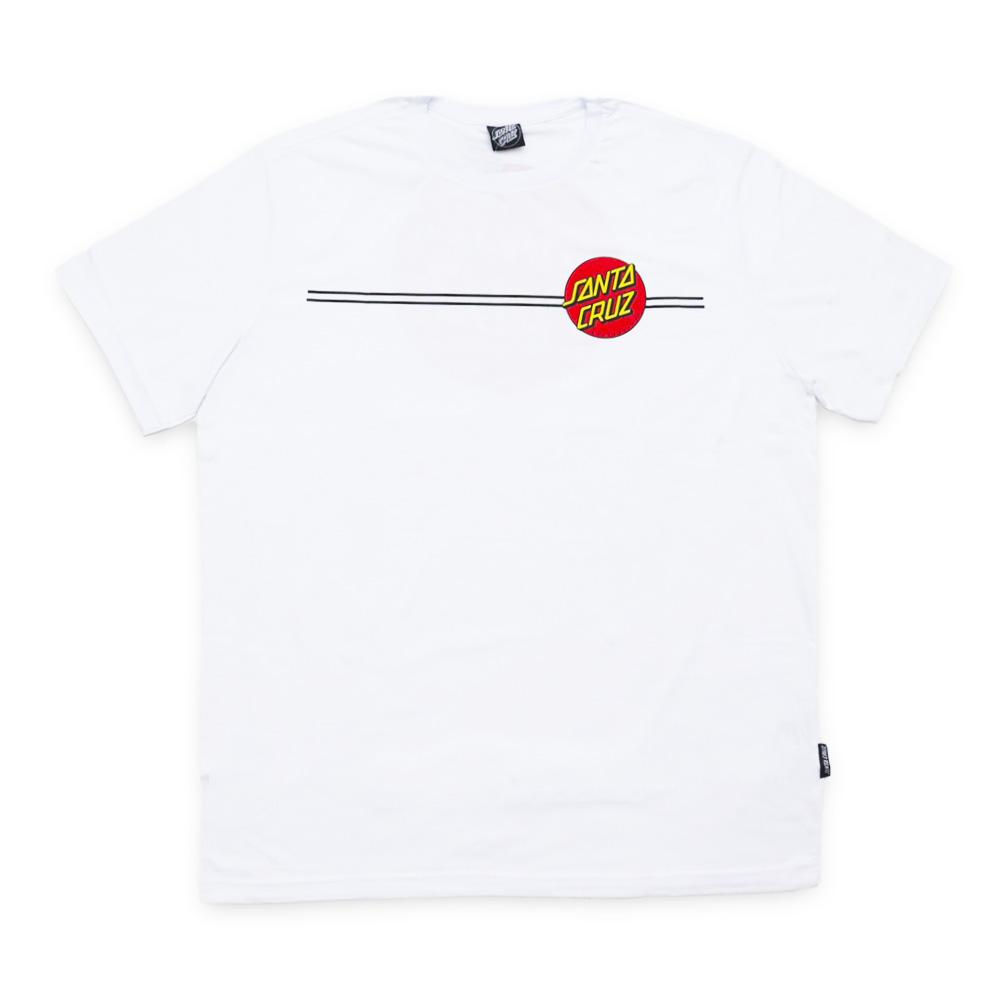 Camiseta Santa Cruz Classic Dot Line - Branco