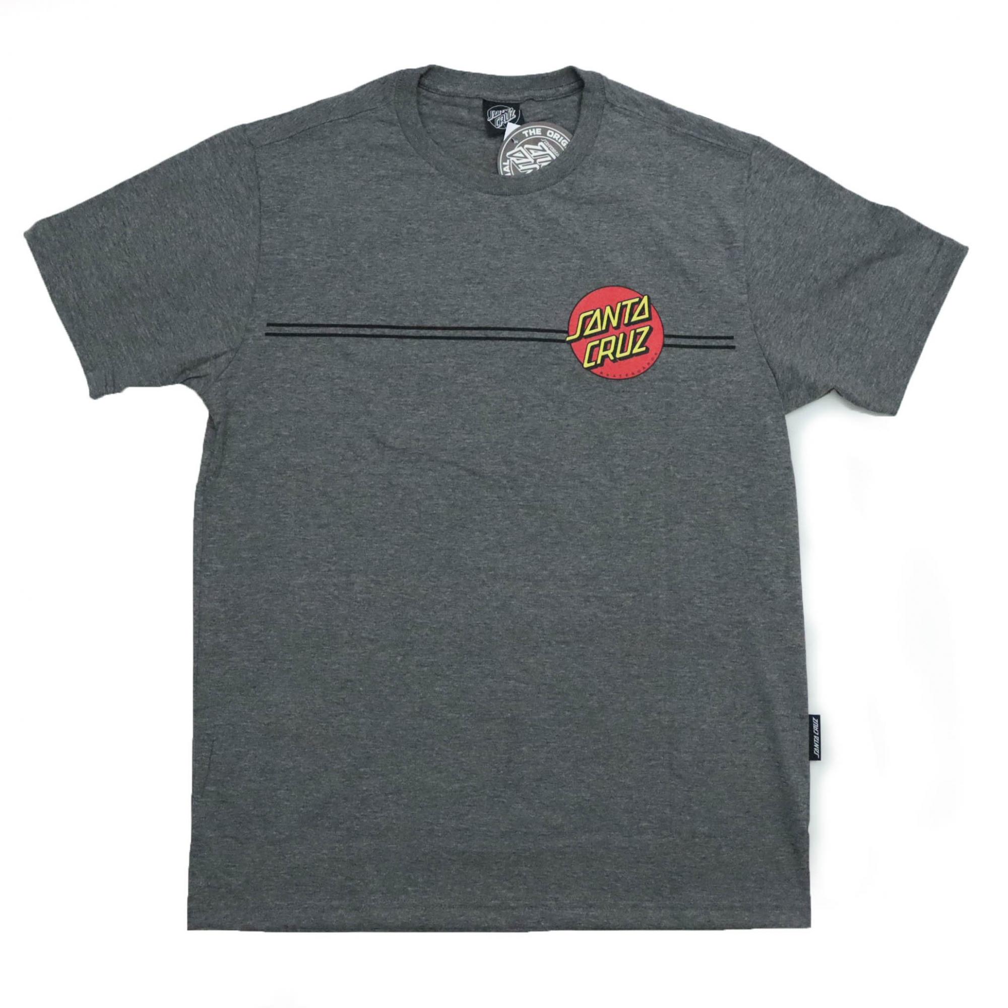 Camiseta Santa Cruz Classic Dot Line - Chumbo Mescla