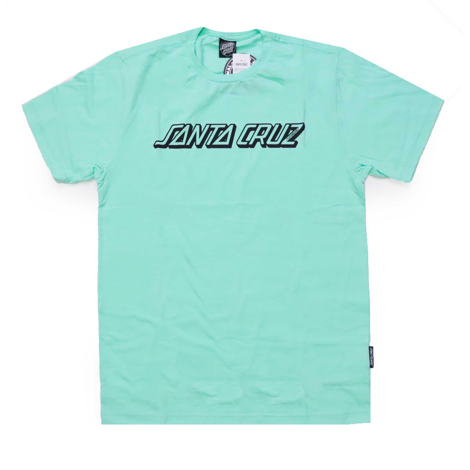 Camiseta Santa Cruz Classic Strip 1 Color - Azul Turquesa