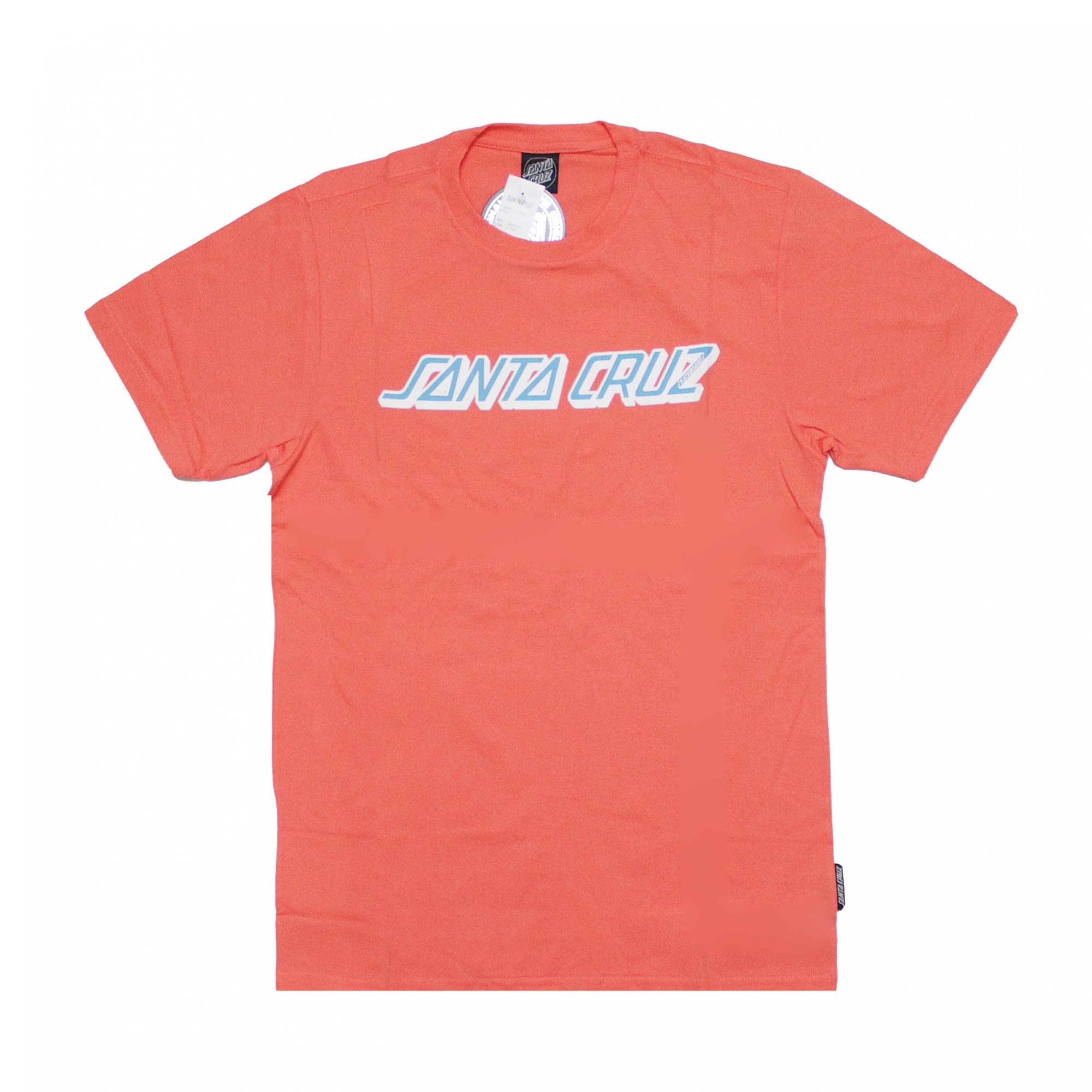 Camiseta Santa Cruz Classic Strip - Coral