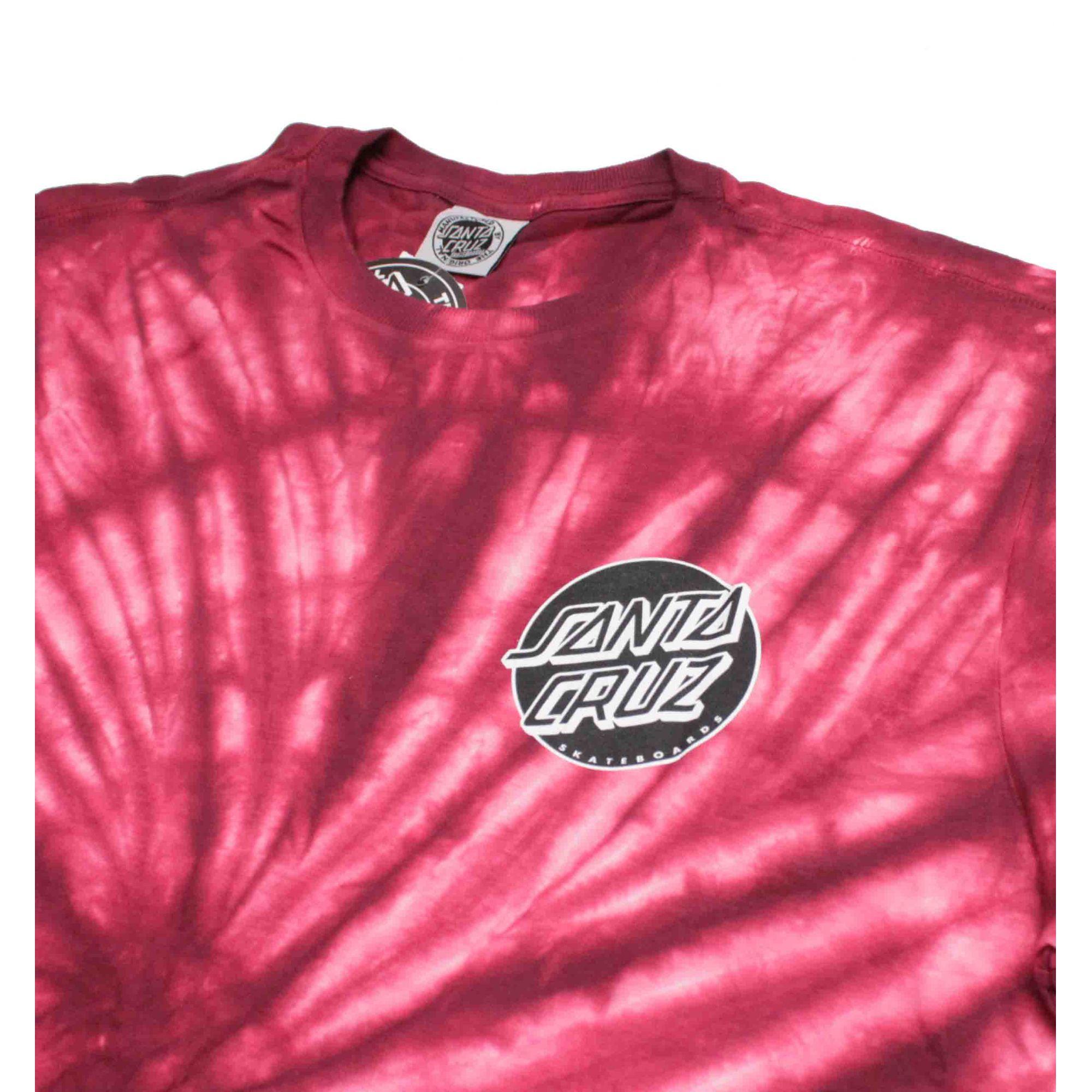 Camiseta Santa Cruz Conjurer Tie Dye Red