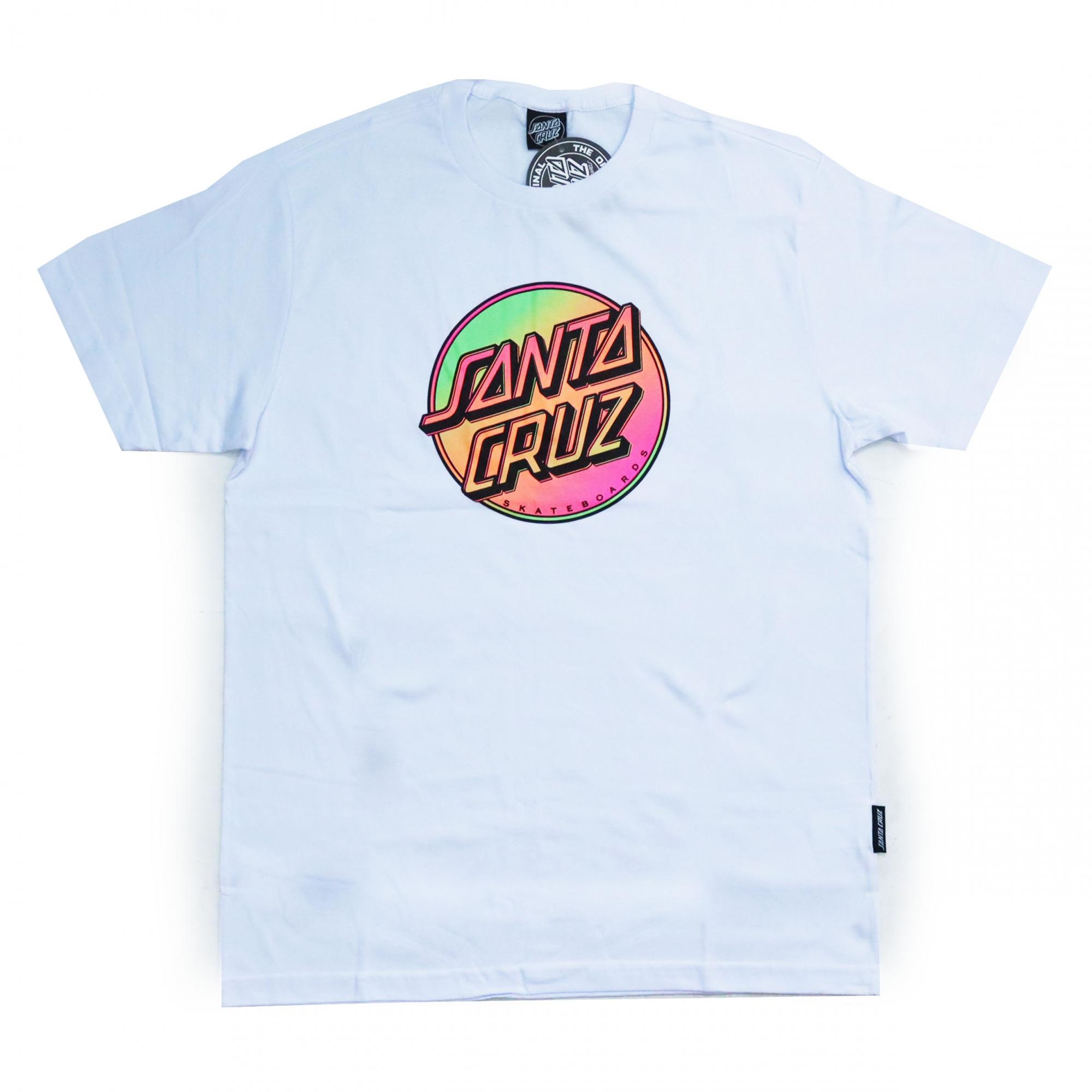 Camiseta Santa Cruz Contra Dot Pop - Branco