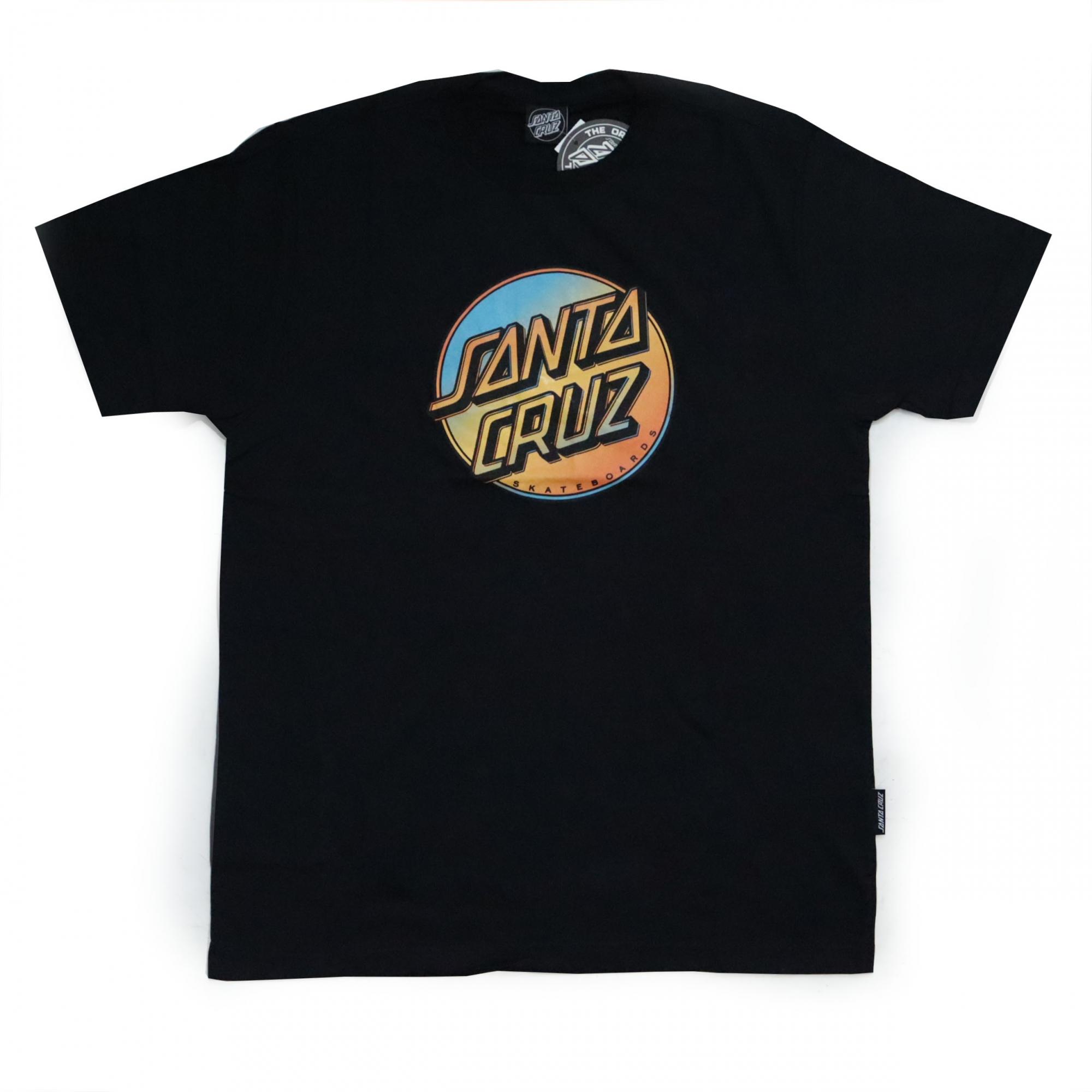 Camiseta Santa Cruz Contra Dot Pop - Preto