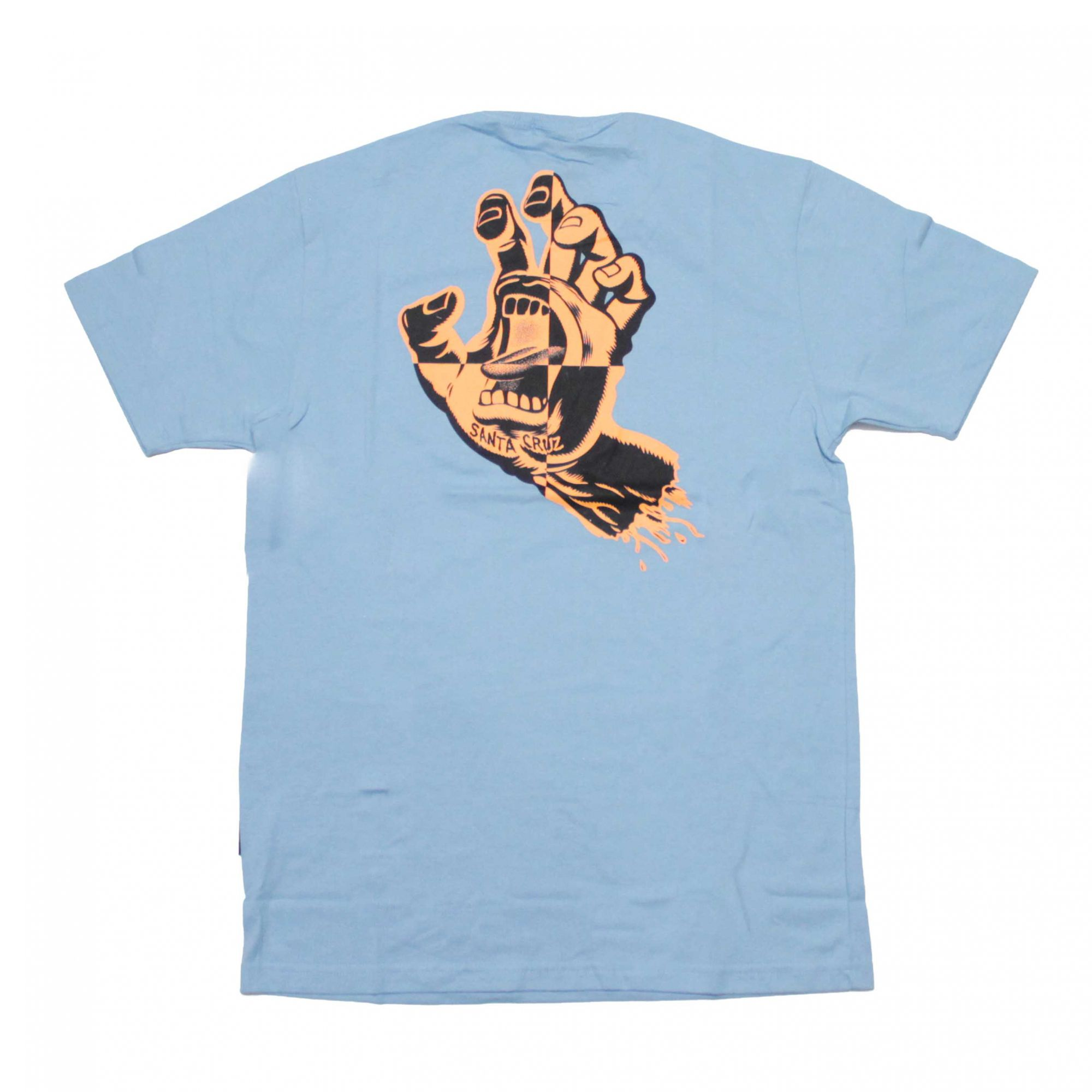 Camiseta Santa Cruz Crash Hand Azul Claro