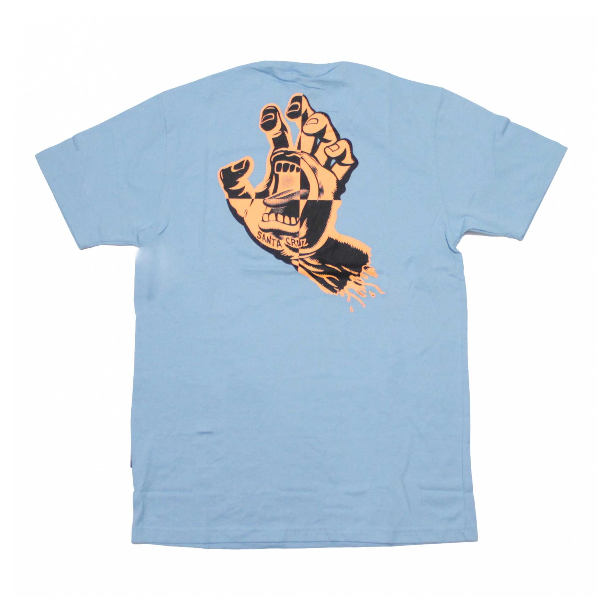 Camiseta Santa Cruz Crash Hand - Azul Claro