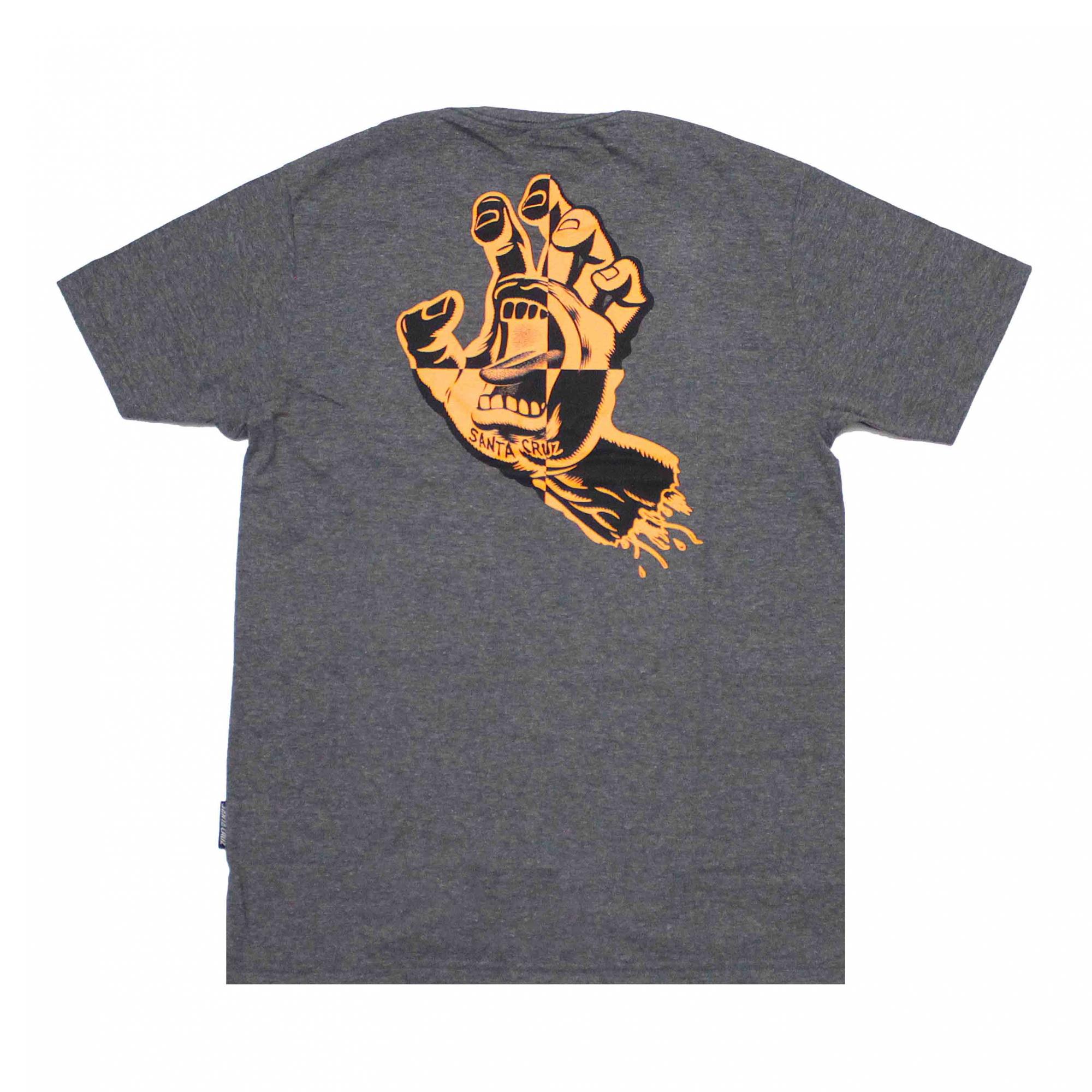 Camiseta Santa Cruz Crash Hand - Cinza Chumbo