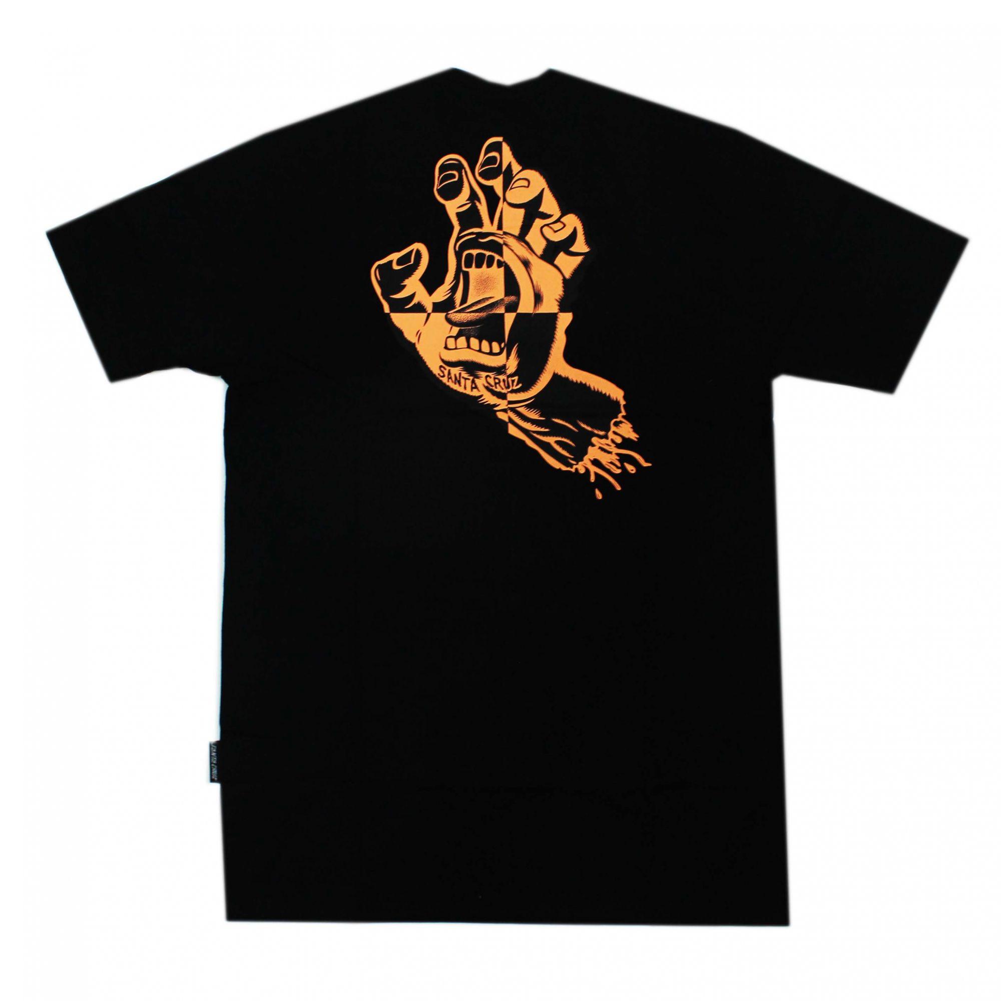 Camiseta Santa Cruz Crash Hand - Preto