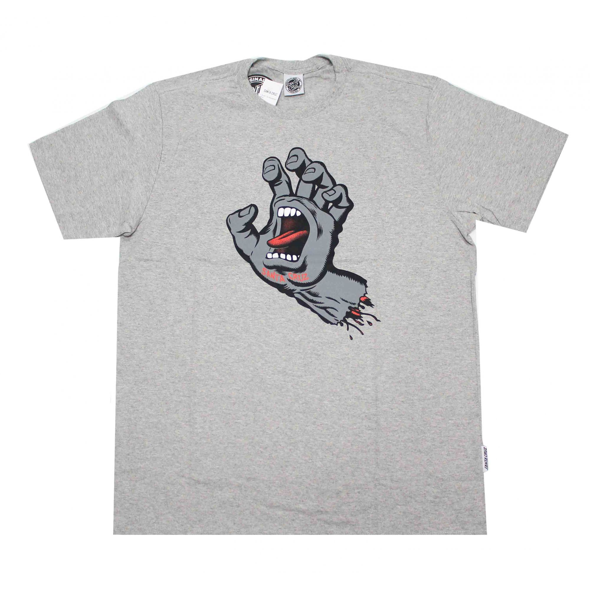 Camiseta Santa Cruz Dark Screaming Hand Grey