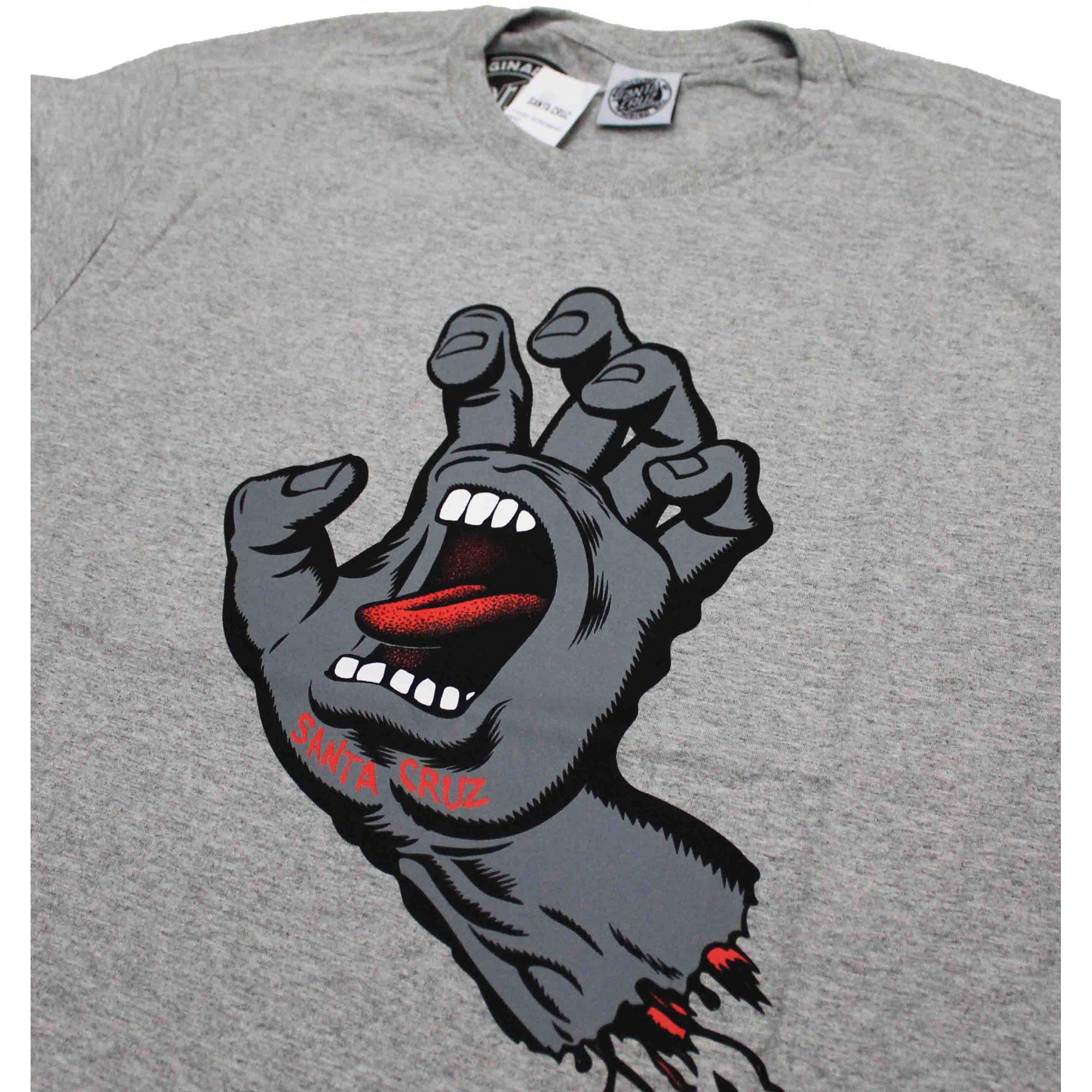 Camiseta Santa Cruz Dark Screaming Hand Grey