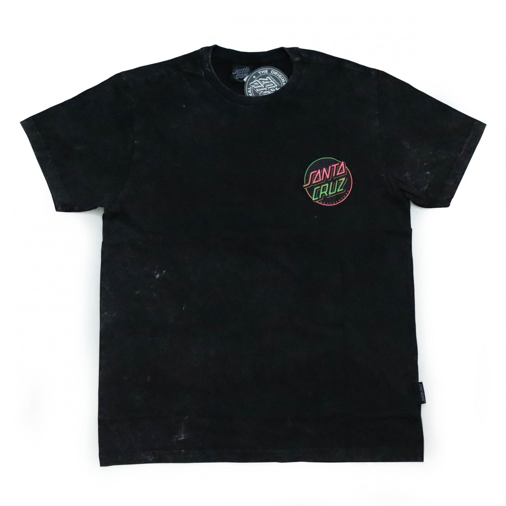 Camiseta Santa Cruz Especial Contra Dot - Preto Estonado