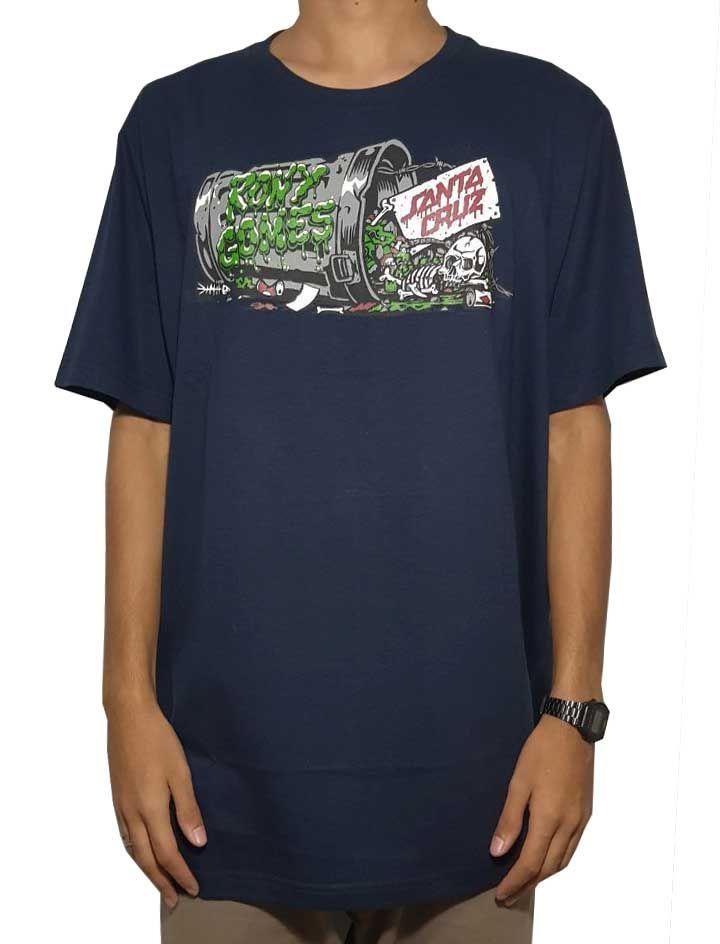 a5190f9cf8 Camiseta Santa Cruz Especial Edition Rony Gomes Thash Azul Marinho