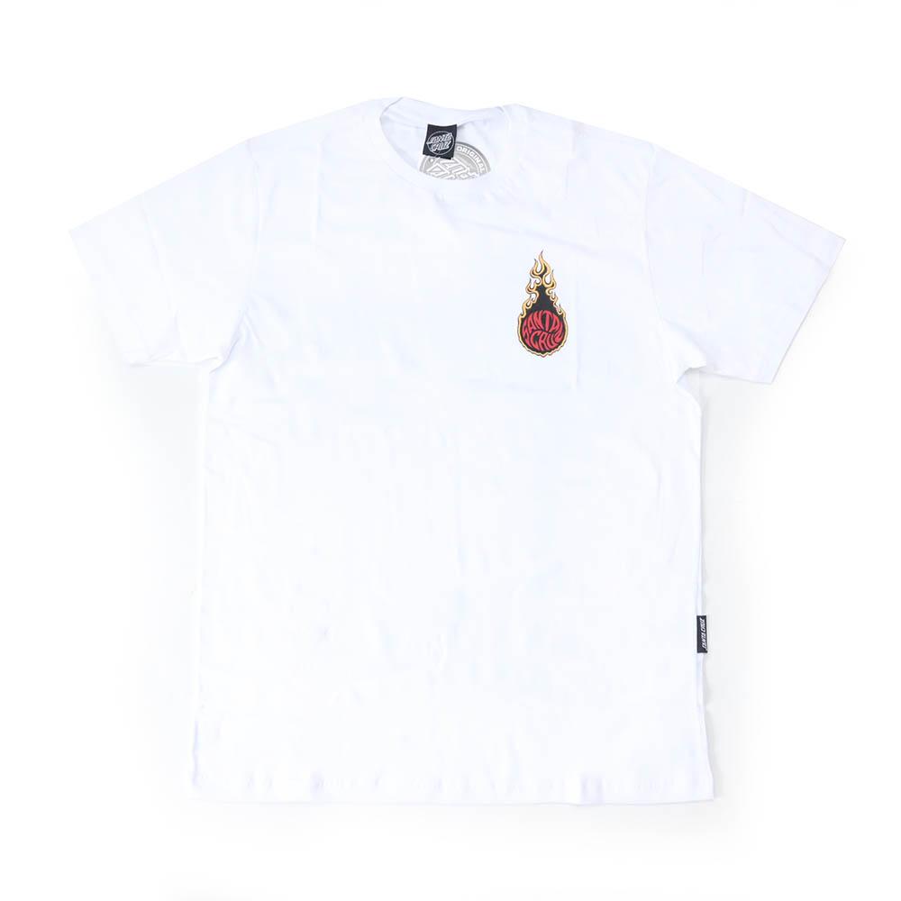 Camiseta Santa Cruz Fireball - Branco