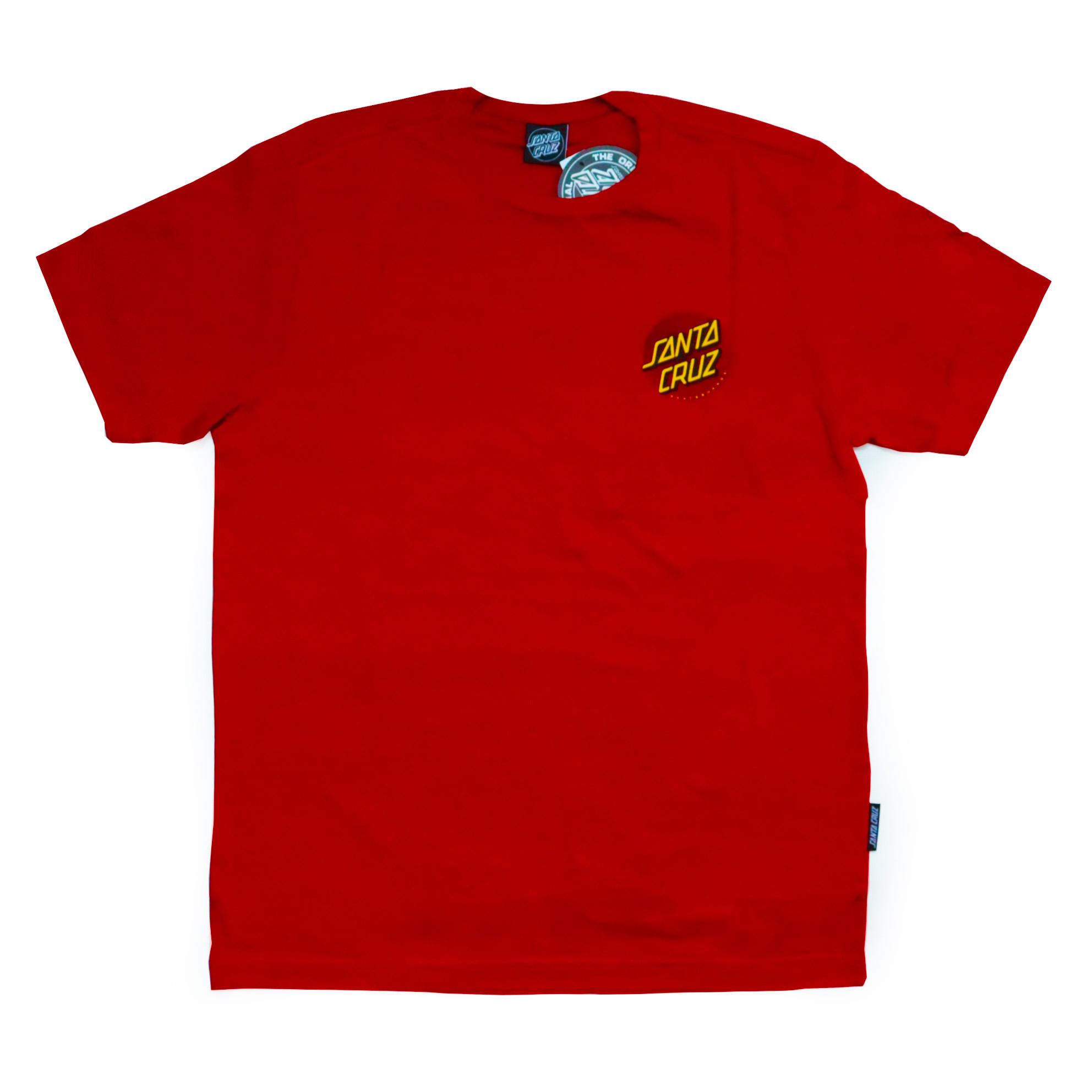 Camiseta Santa Cruz Flex Dot - Vermelho