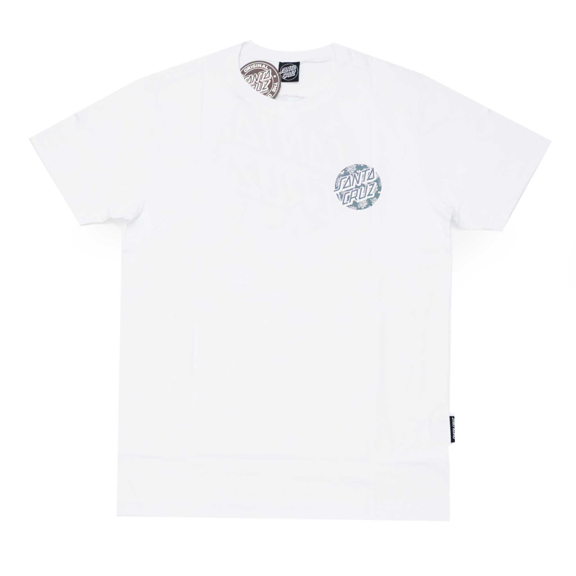 Camiseta Santa Cruz Floral Decay Dot - Branco