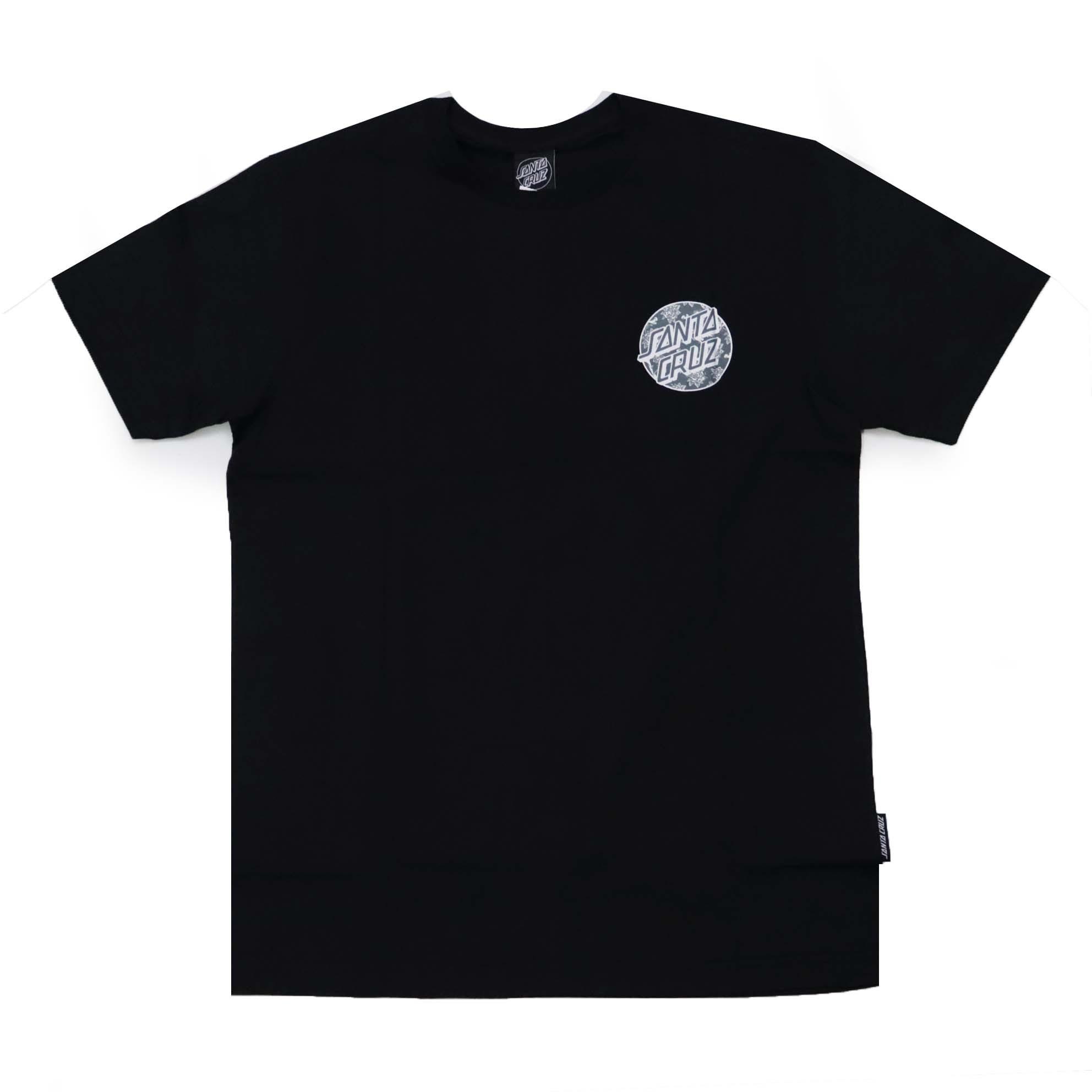 Camiseta Santa Cruz Floral Decay Dot - Preto