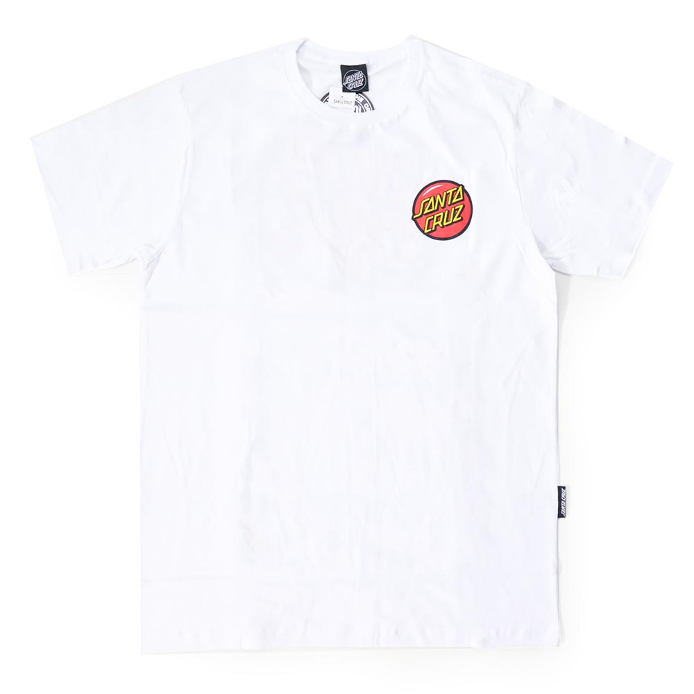 Camiseta Santa Cruz Jackpot Dot - Branco