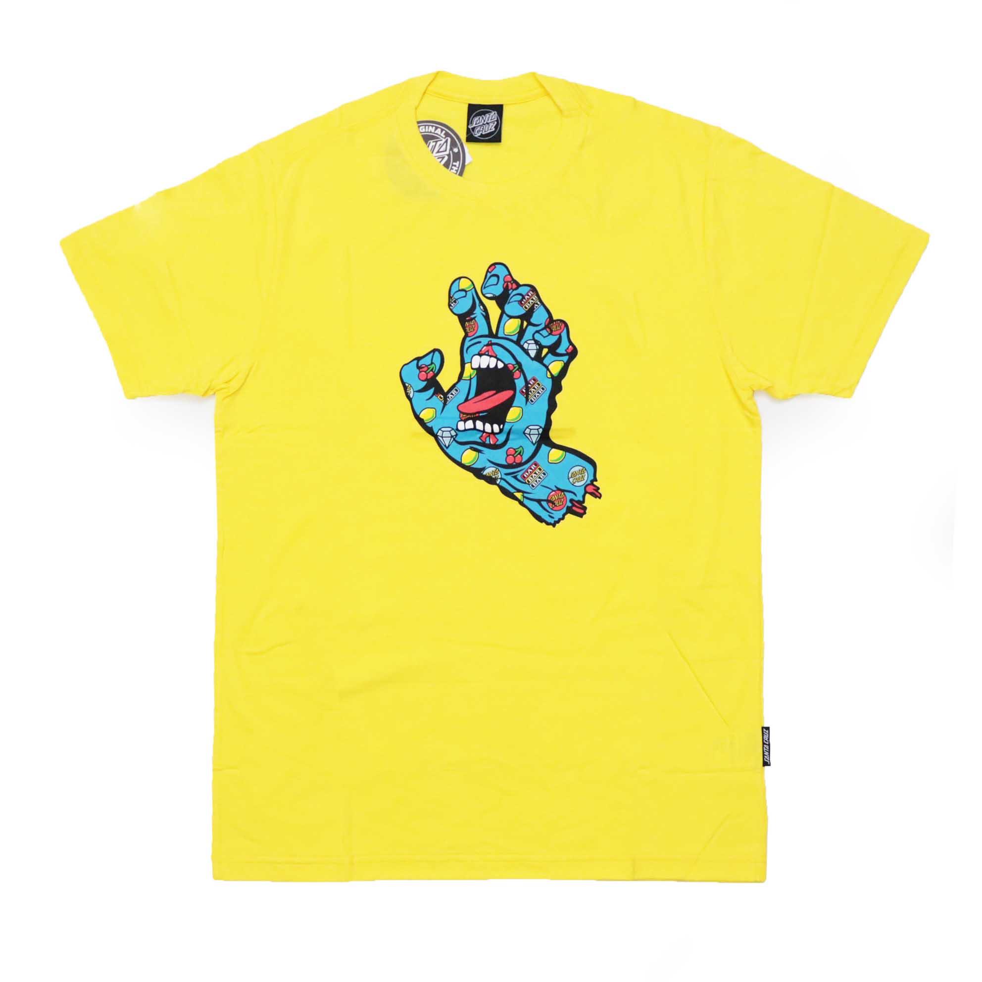 Camiseta Santa Cruz Jackpot Hand - Amarelo
