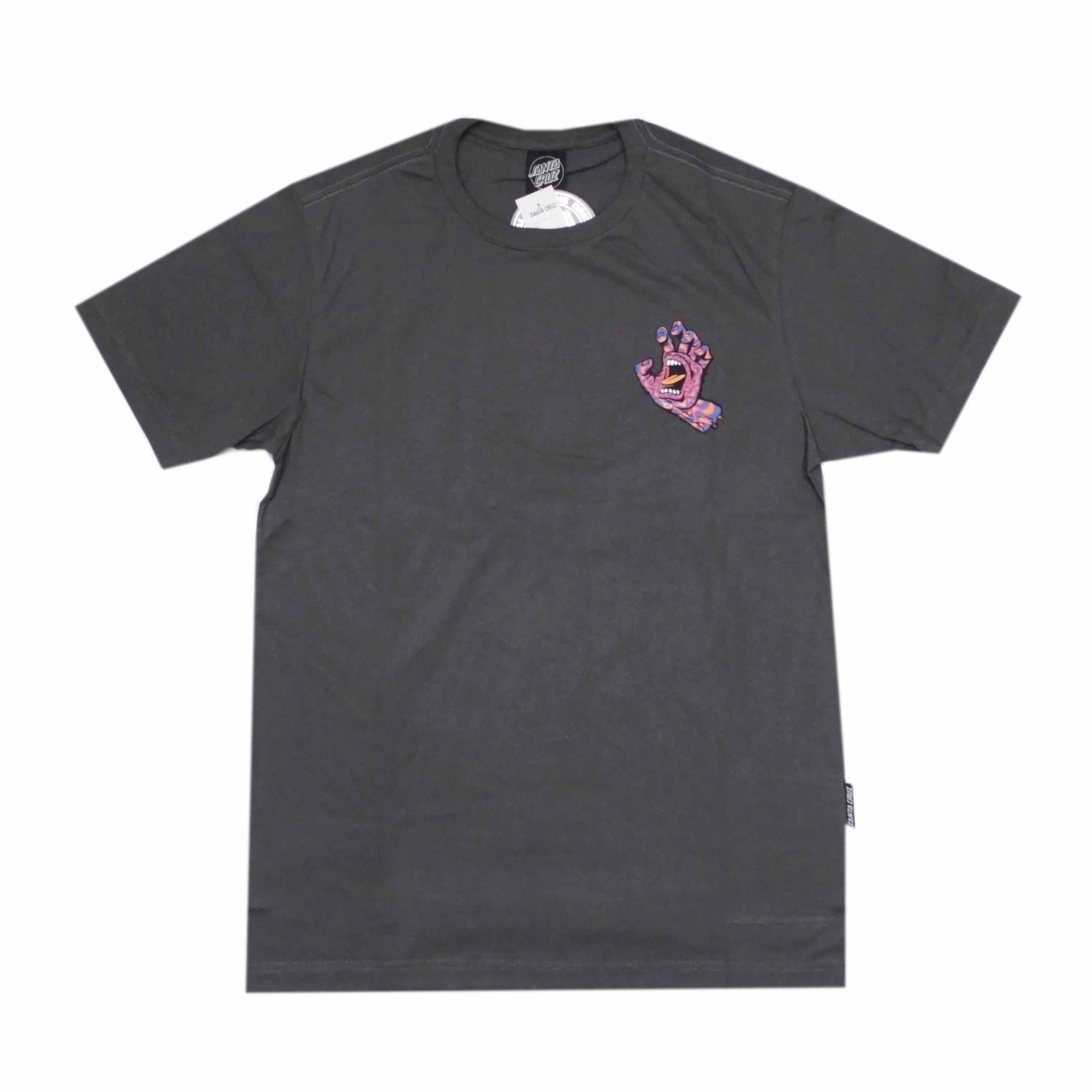 Camiseta Santa Cruz Kaleido Hand Cinza Chumbo