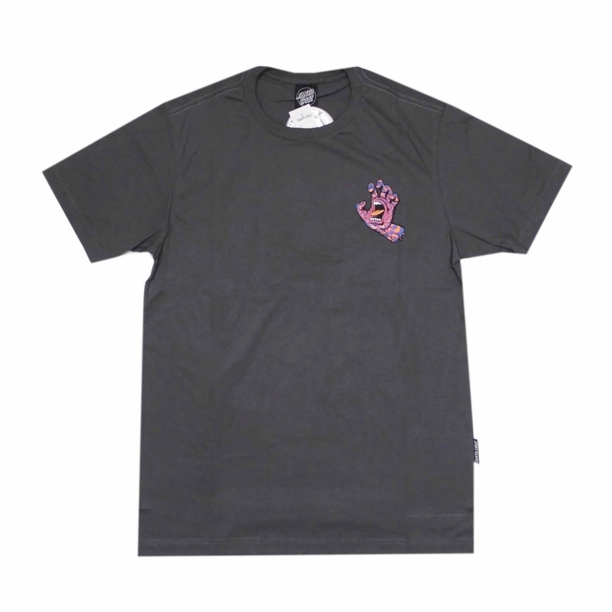 Camiseta Santa Cruz Kaleido Hand - Cinza Chumbo