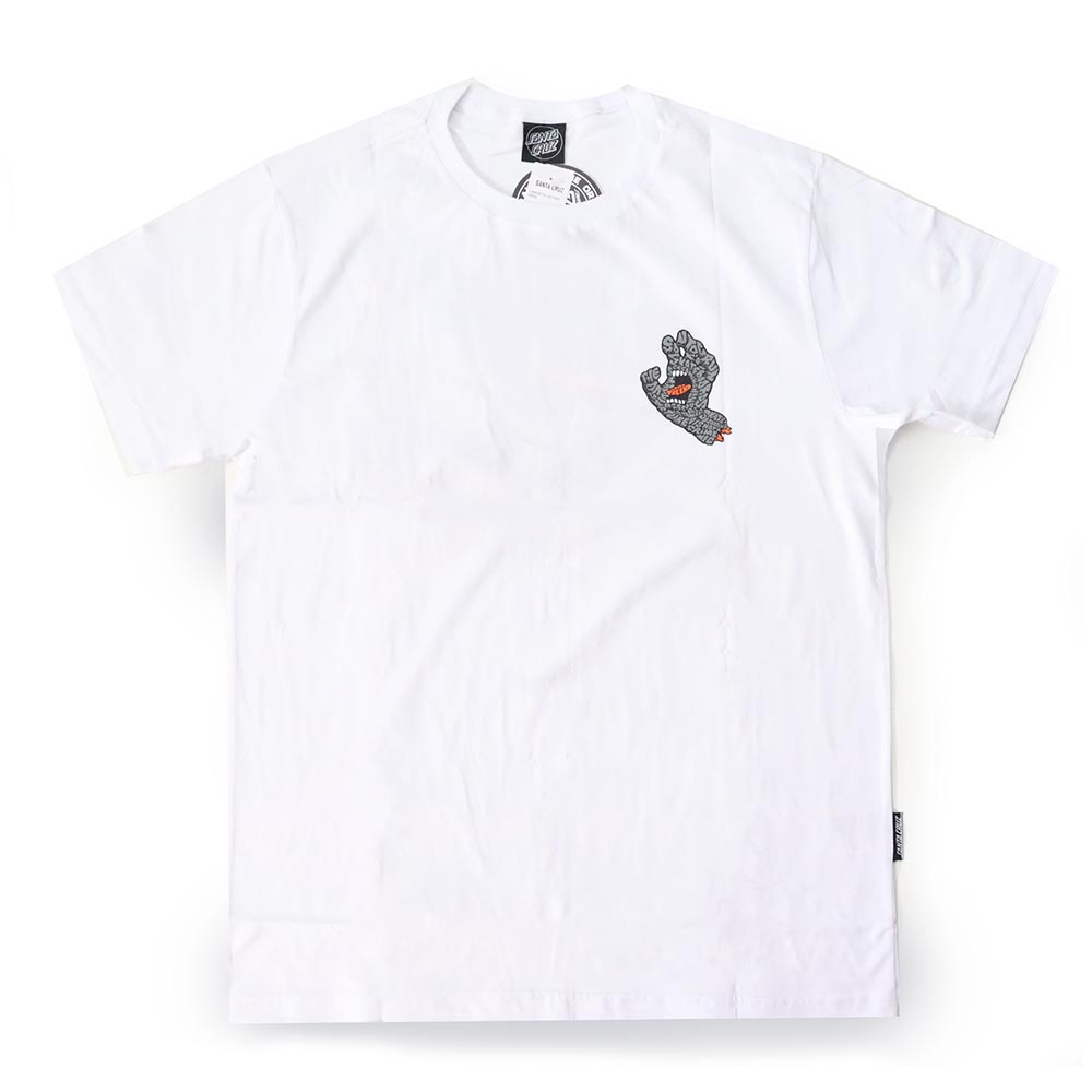 Camiseta Santa Cruz Letter Hand - Branco