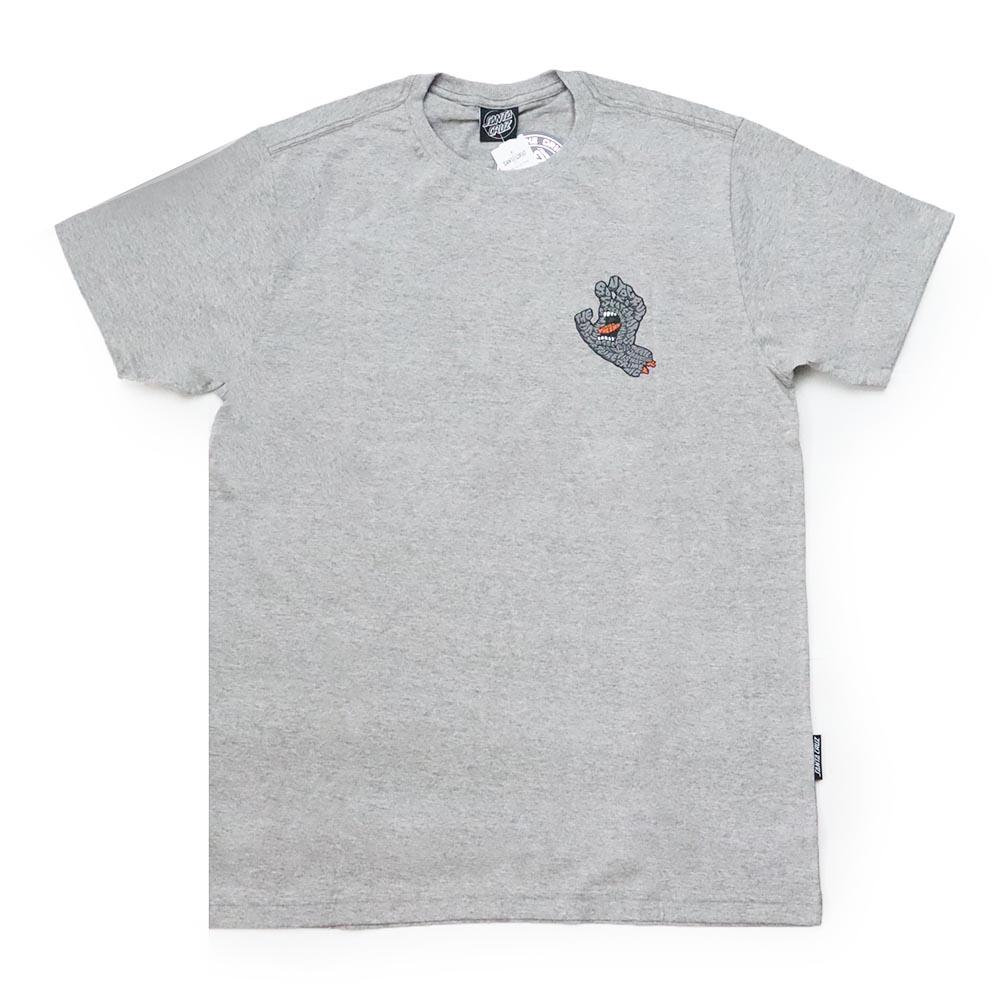 Camiseta Santa Cruz Letter Hand - Cinza Mescla