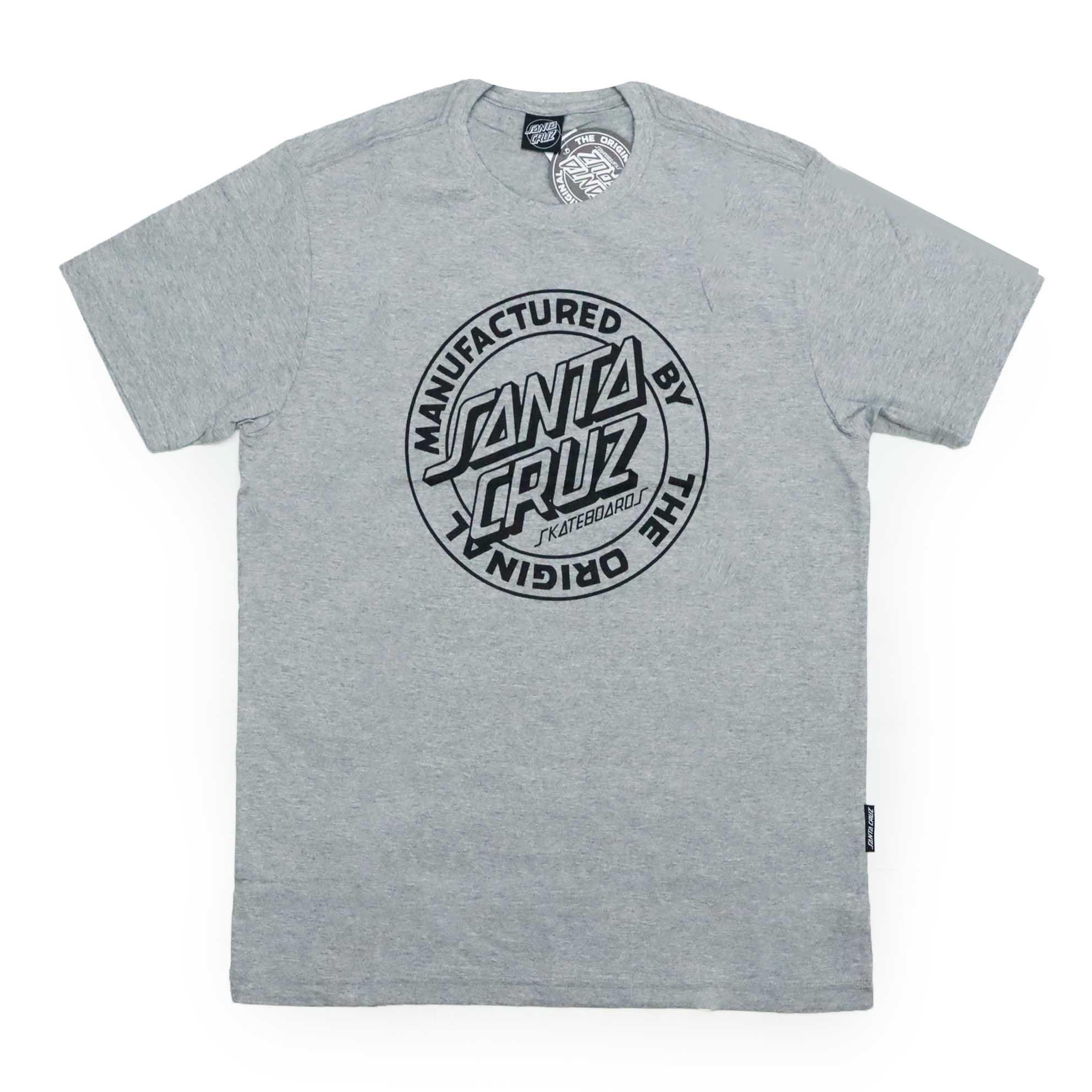 Camiseta Santa Cruz MFG Dot 1 Color - Cinza Mescla
