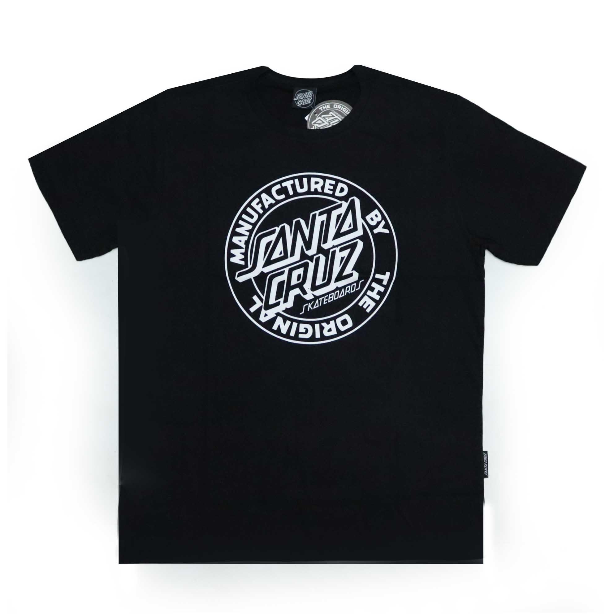 Camiseta Santa Cruz MFG Dot 1 Color - Preto