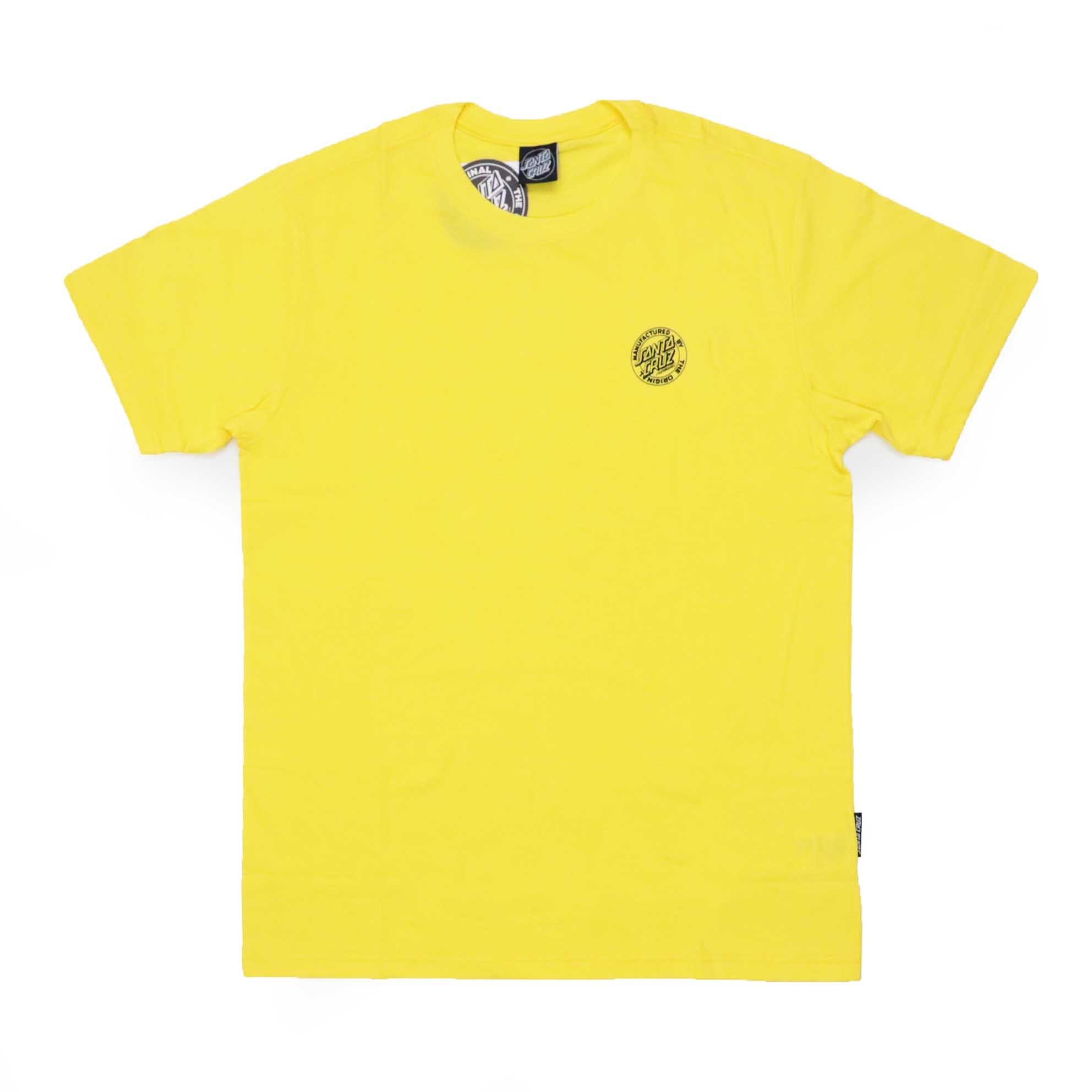 Camiseta Santa Cruz MFG Dot Chest 1 Color - Amarelo
