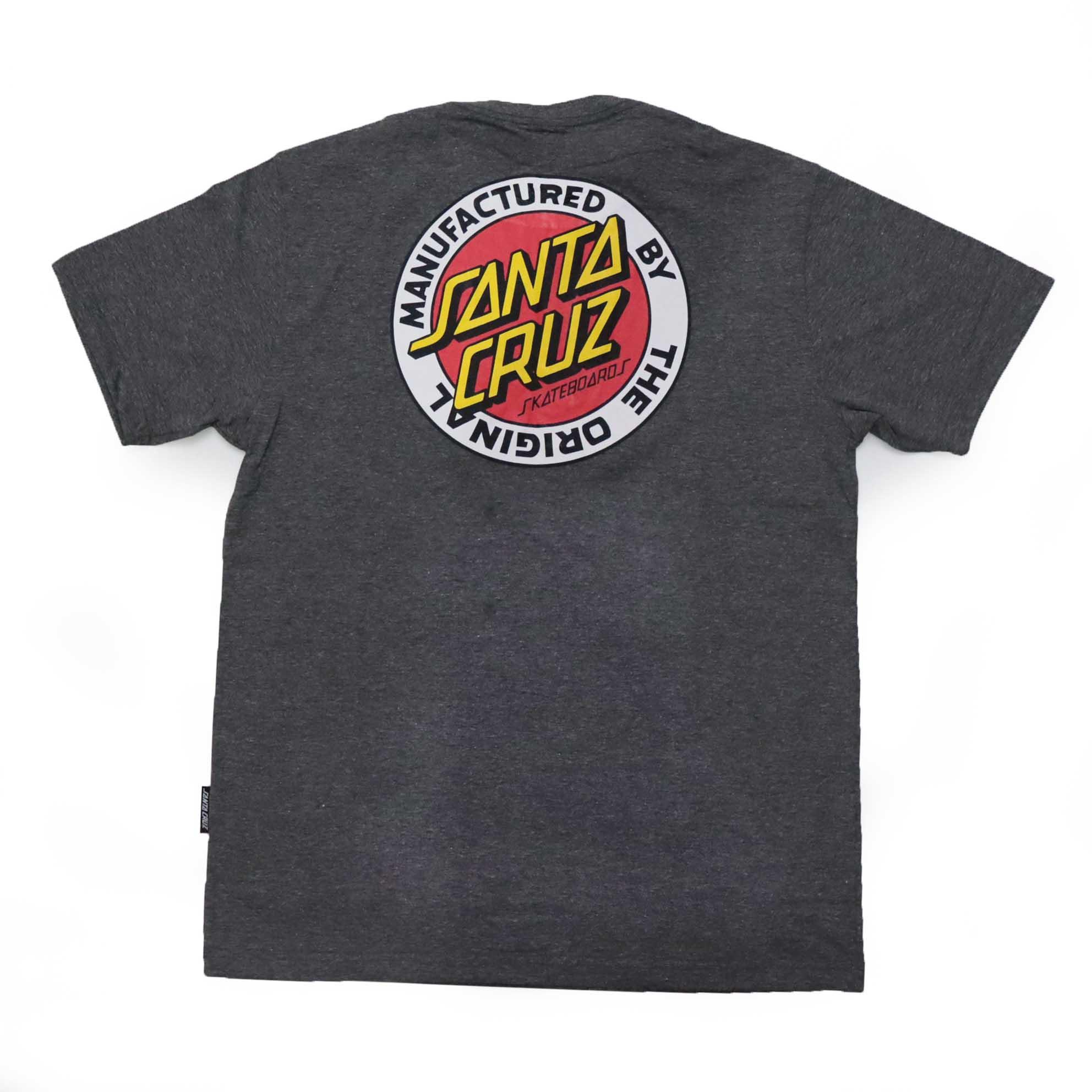 Camiseta Santa Cruz MFG Dot - Chumbo Mescla