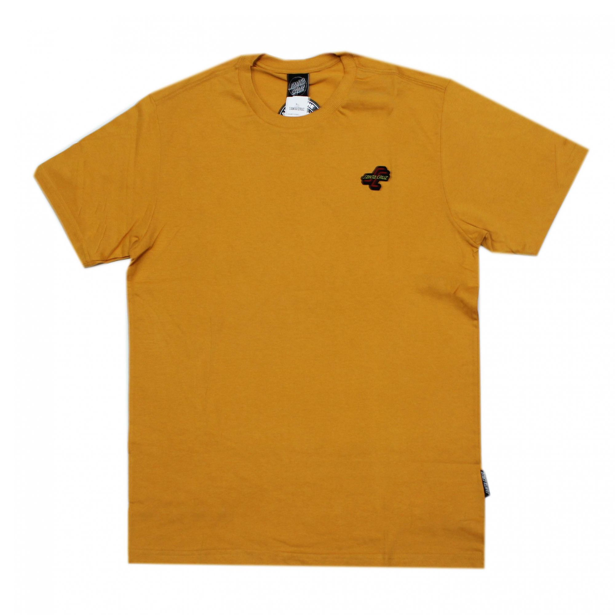 Camiseta Santa Cruz Mini Patch OGSC - Amarelo