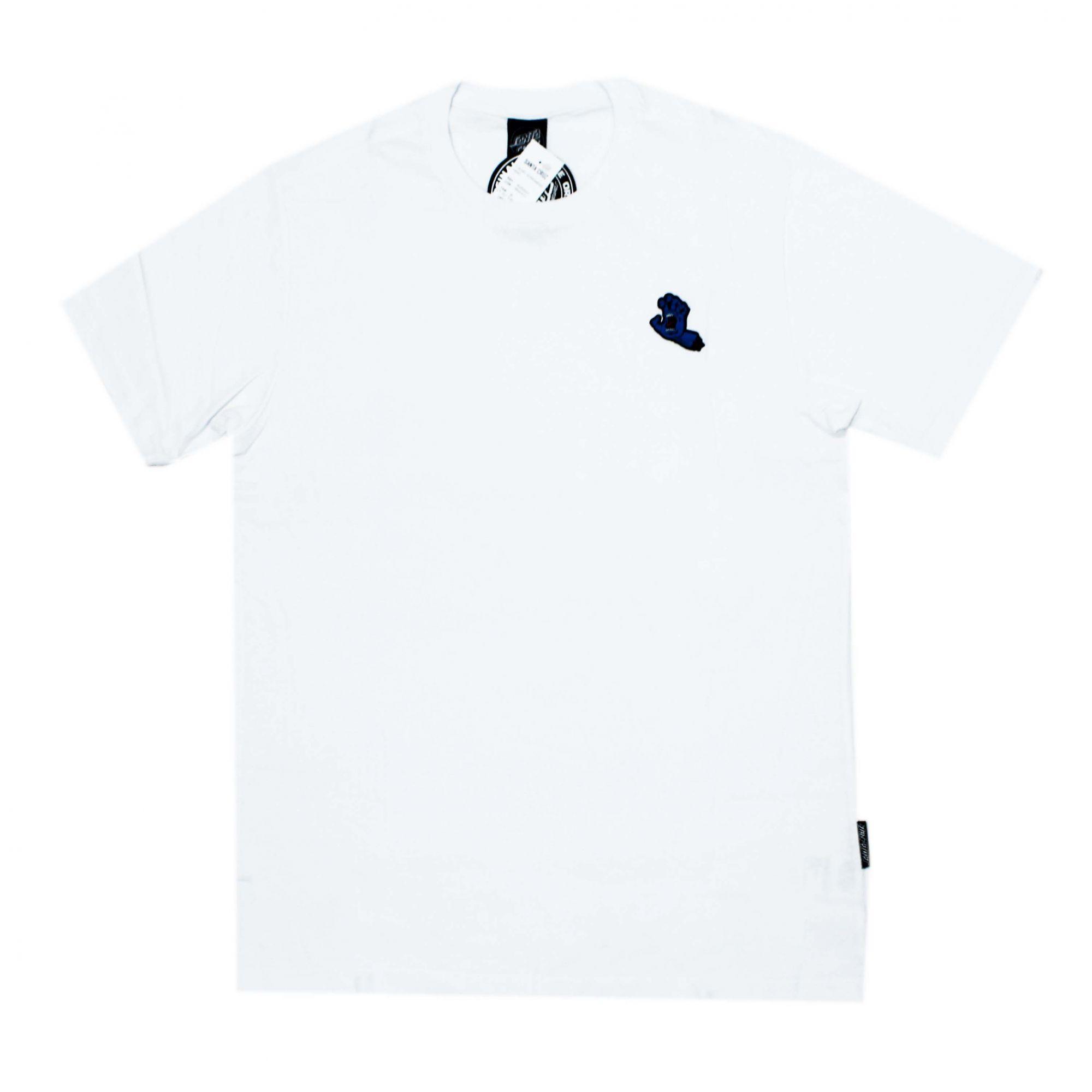 Camiseta Santa Cruz Mini Patch Screaming Hand Branco