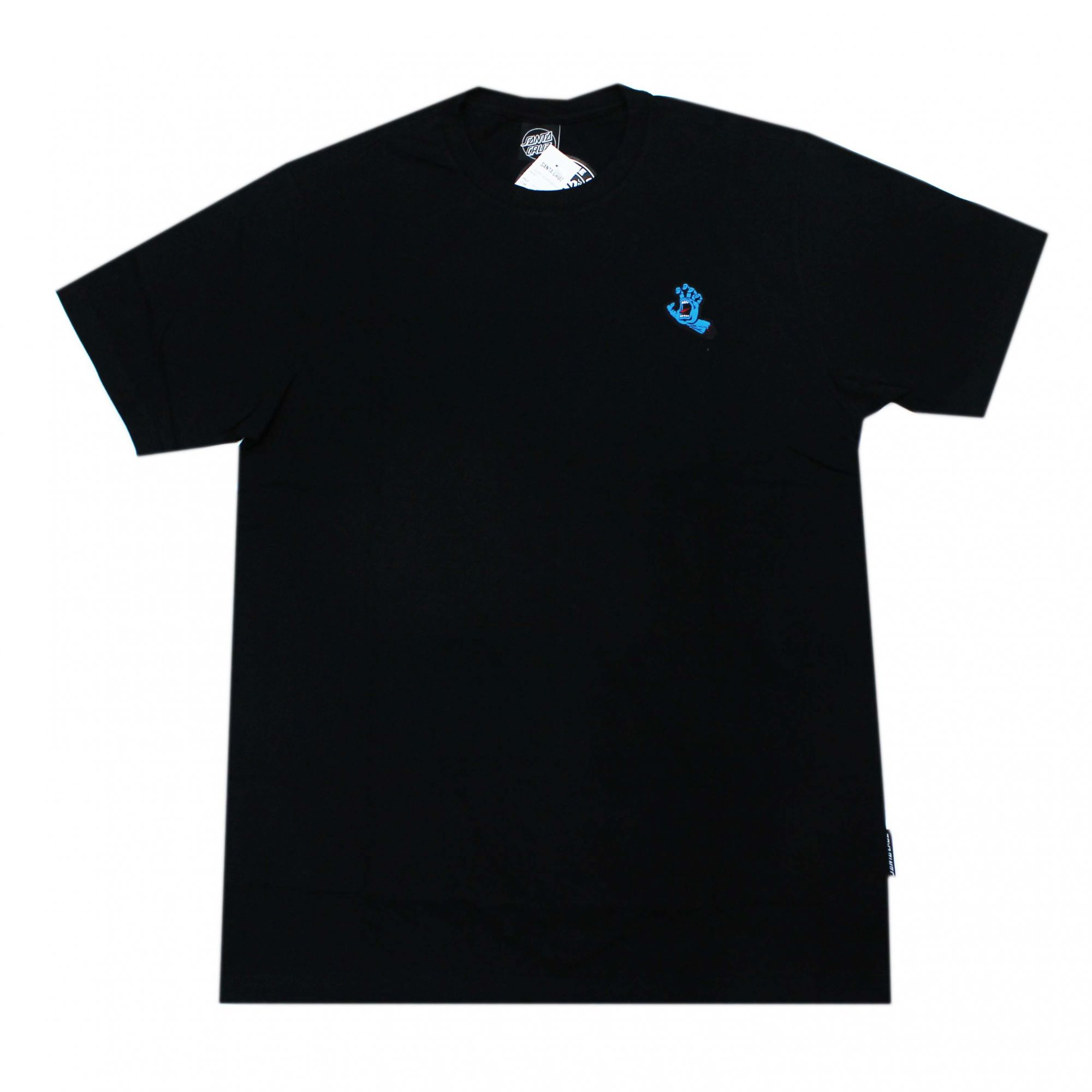 Camiseta Santa Cruz Mini Patch Screaming Hand Preto