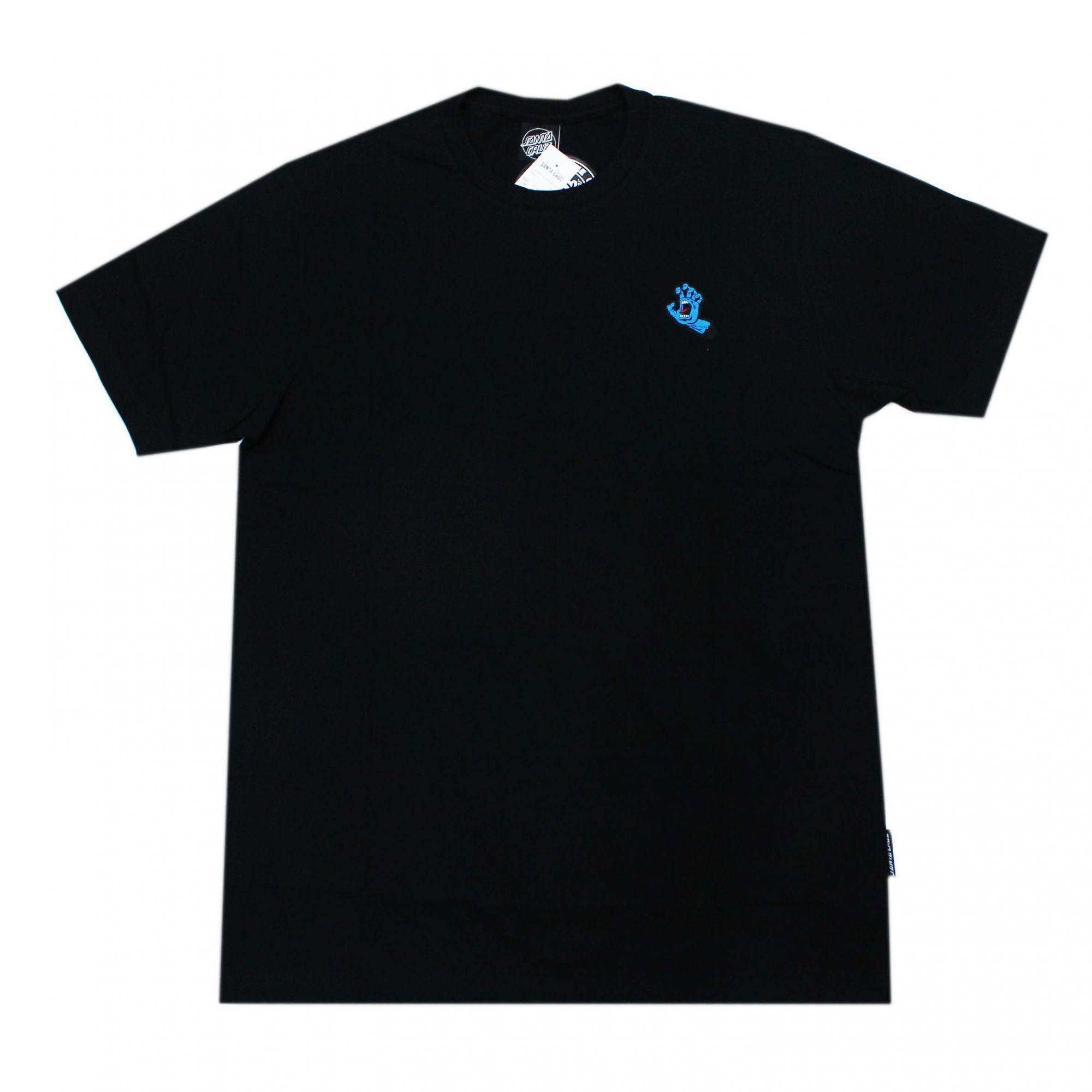 Camiseta Santa Cruz Mini Patch Screaming Hand - Preto