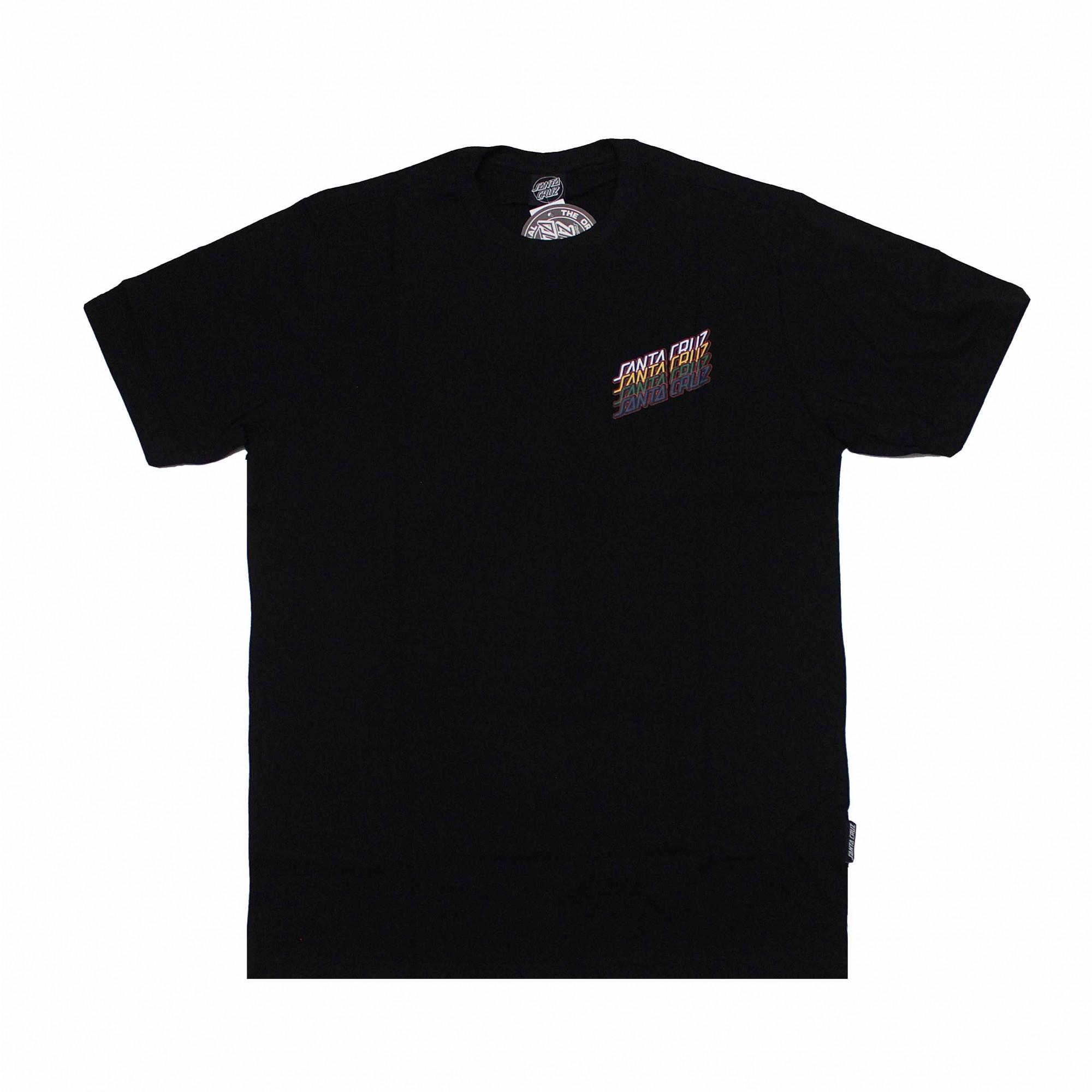 Camiseta Santa Cruz Multi Strip - Preto