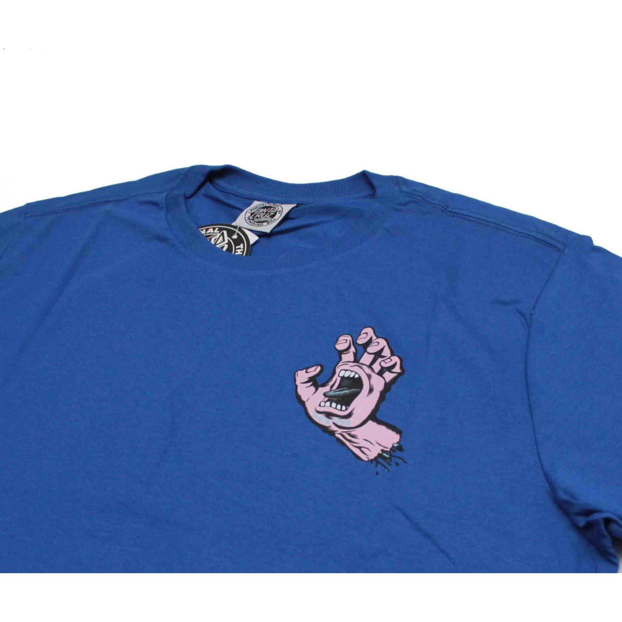 Camiseta Santa Cruz Pastel Screaming Hand Blue