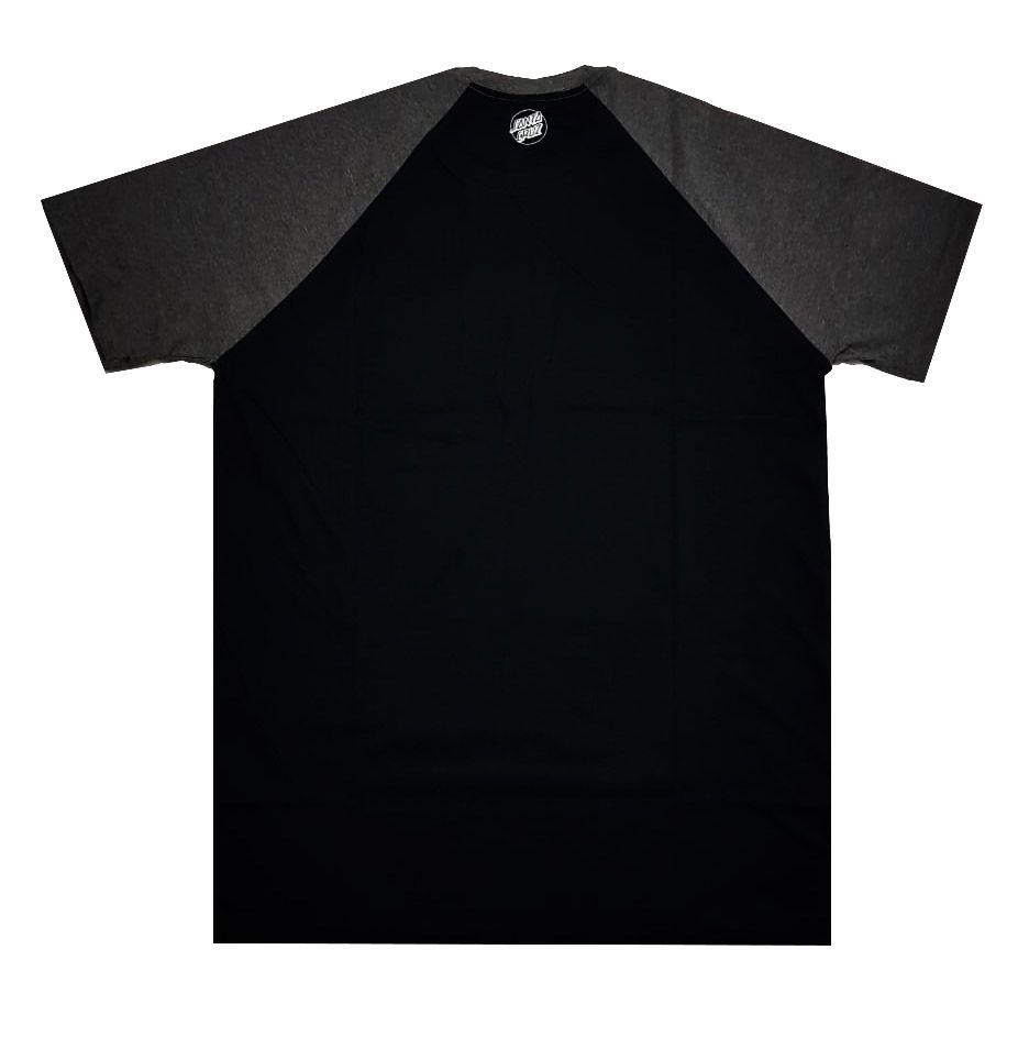 Camiseta Santa Cruz Raglan Screaming Pocket Black