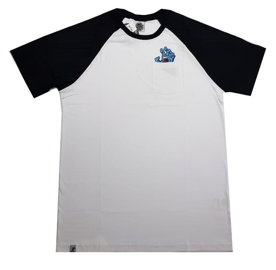 Camiseta Santa Cruz Raglan Screaming Pocket White
