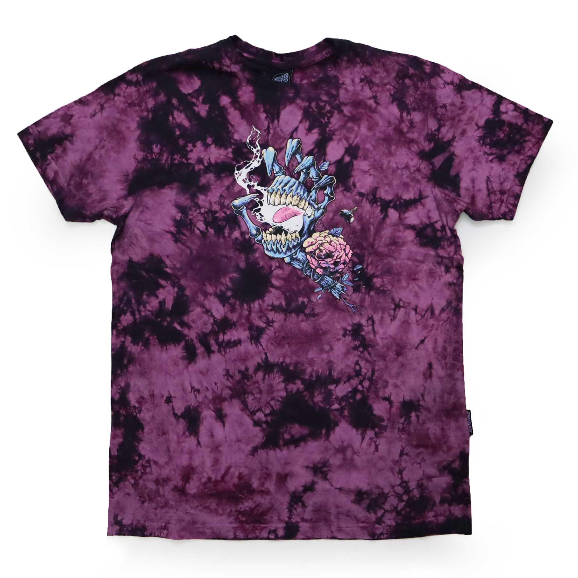 Camiseta Santa Cruz Ressurect Hand - Tie Dye Roxo