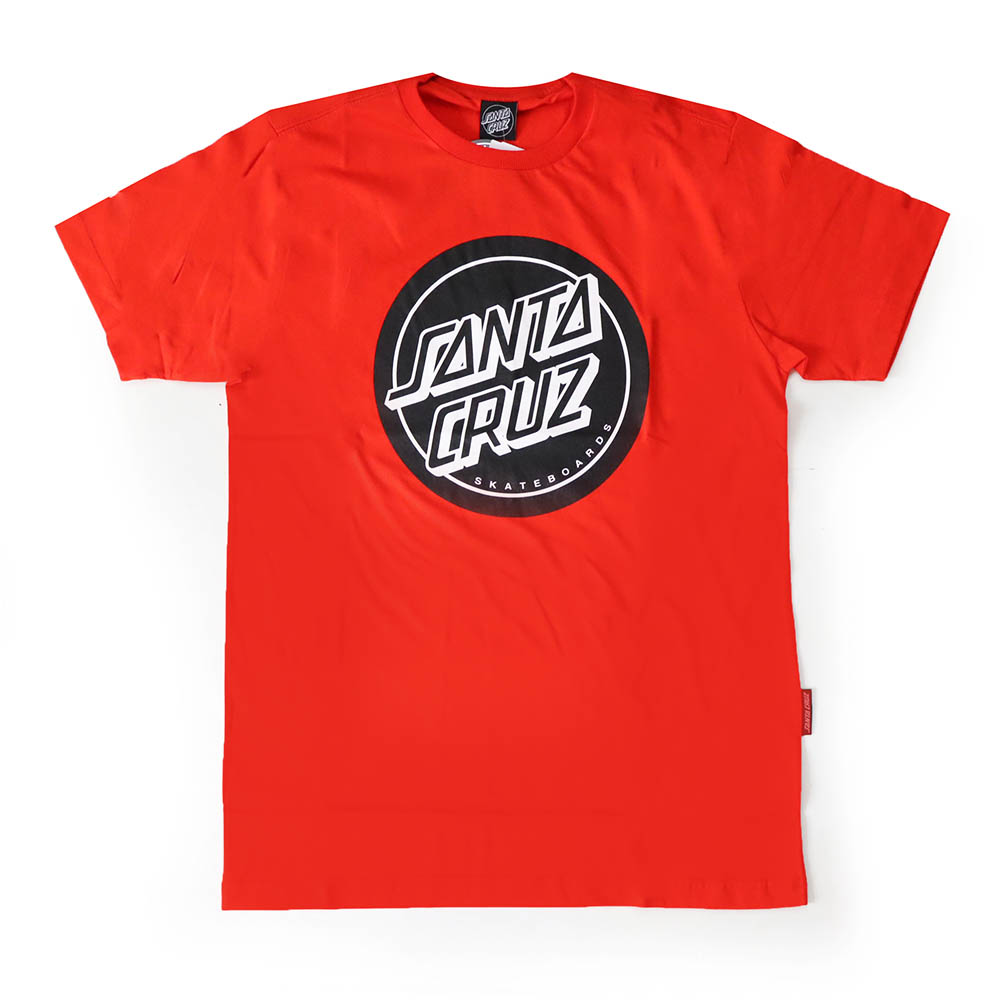 Camiseta Santa Cruz Reverse Dot - Vermelho/Preto