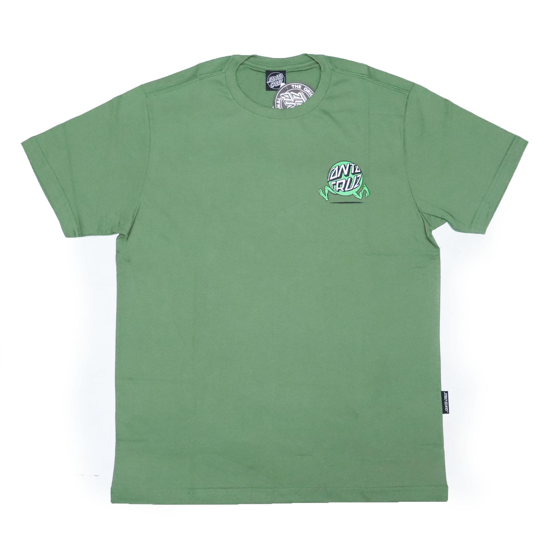 Camiseta Santa Cruz Screaming Fisheye Guy - Verde Oliva