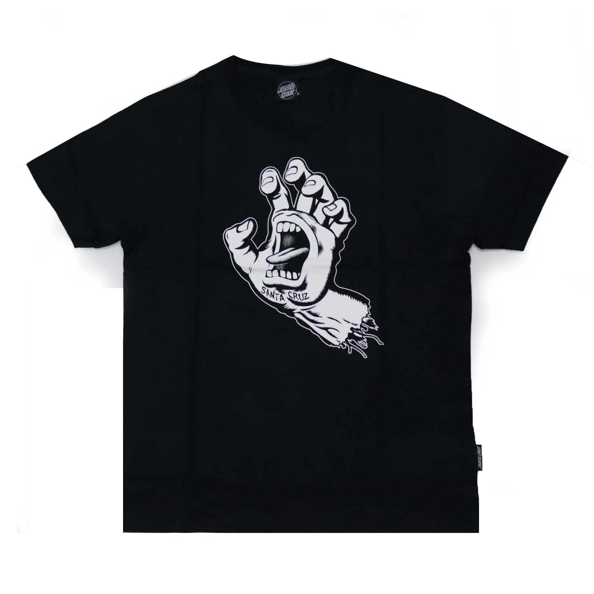 Camiseta Santa Cruz Screaming Hand 1 Color - Preto