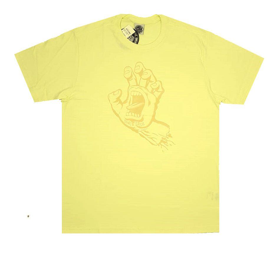 Camiseta Santa Cruz Screaming Hand 1 Color Yellow