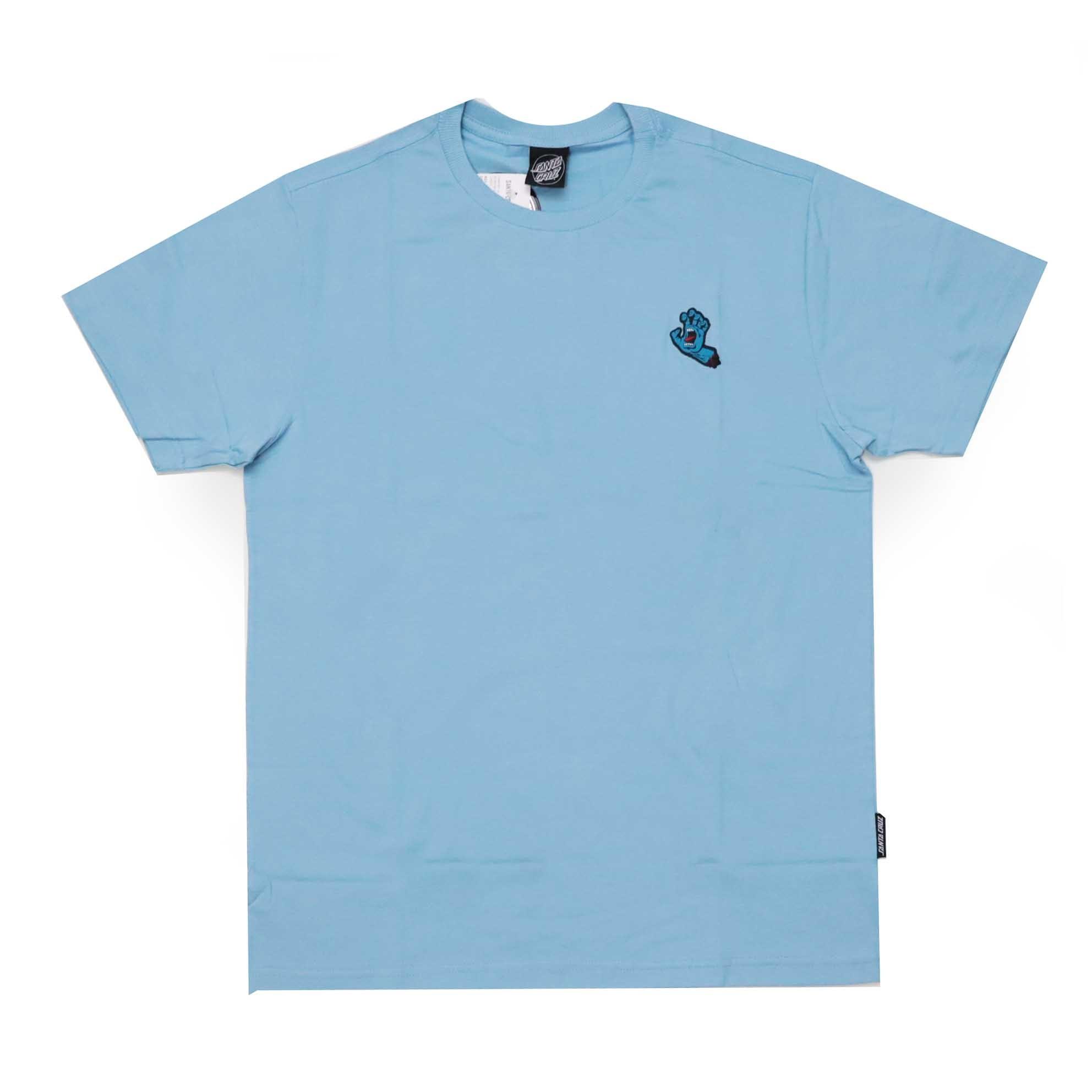 Camiseta Santa Cruz Screaming Hand Chest - Azul Claro