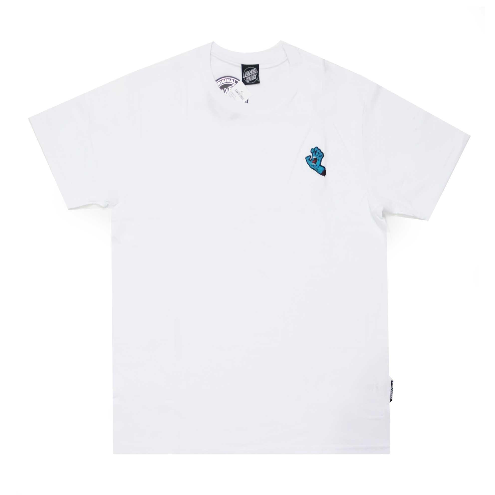 Camiseta Santa Cruz Screaming Hand Chest - Branco